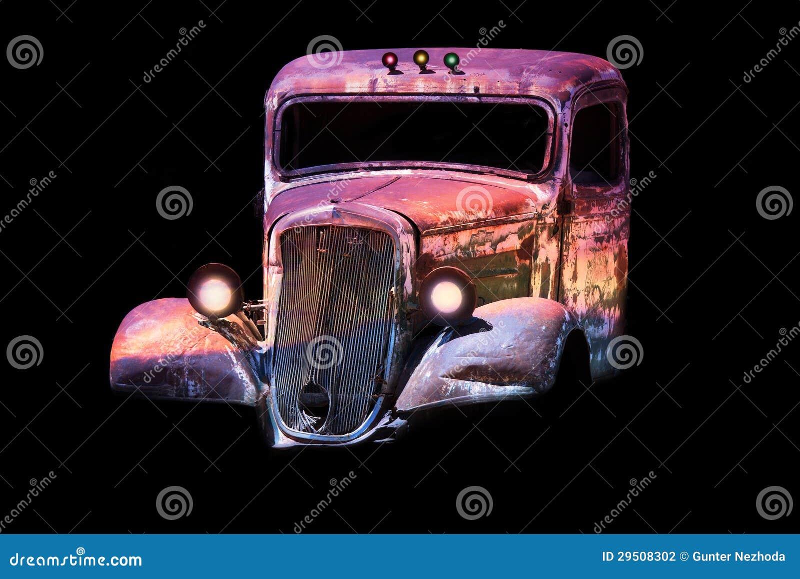 Oude antieke klassieke auto