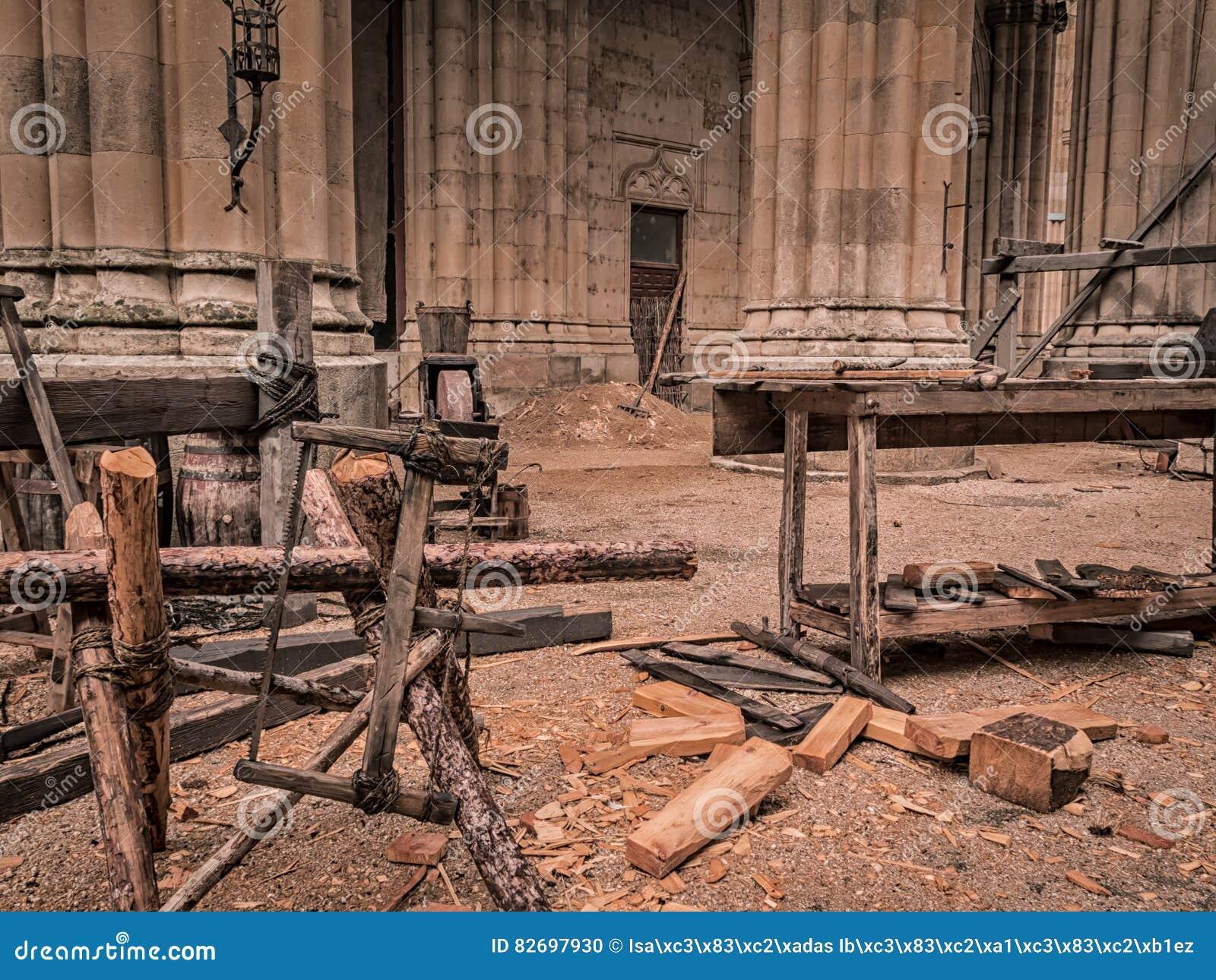 Oude artisanale zaagmolen