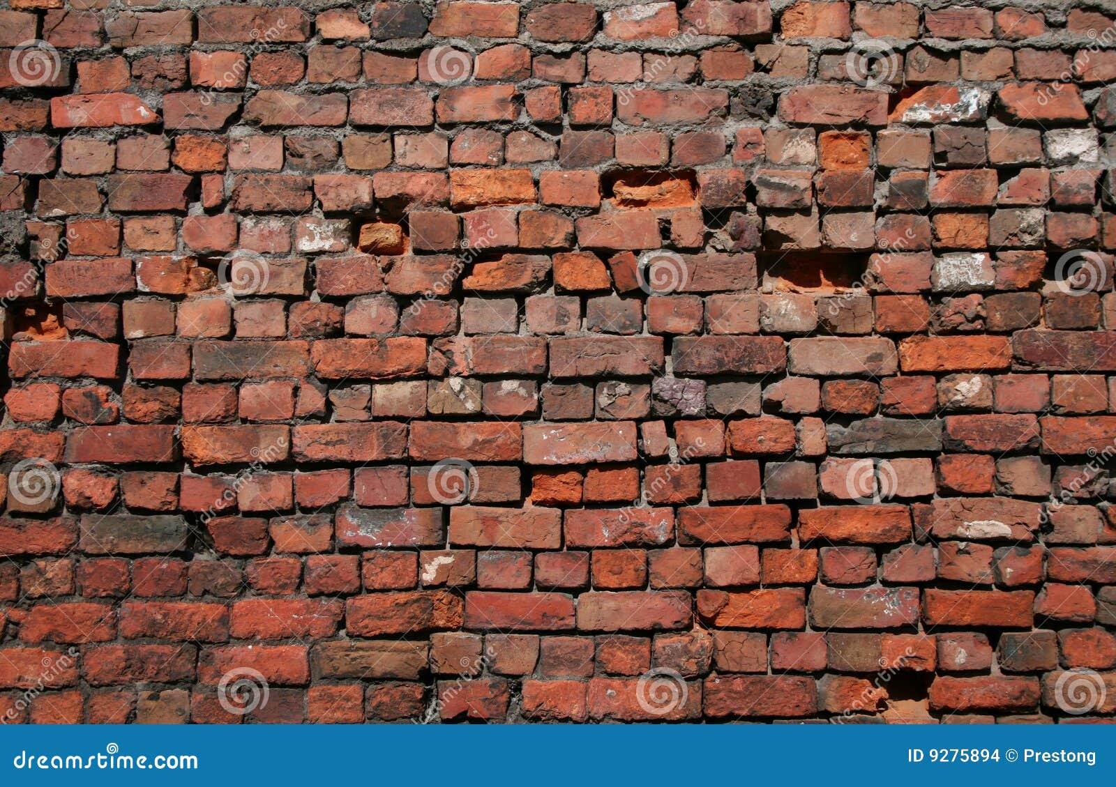 Oude Bakstenen Muur. Stock Afbeeldingen - Afbeelding: 9275894