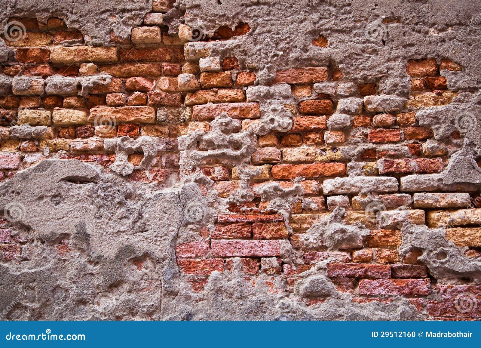 Oude bakstenen muur voor achtergronden