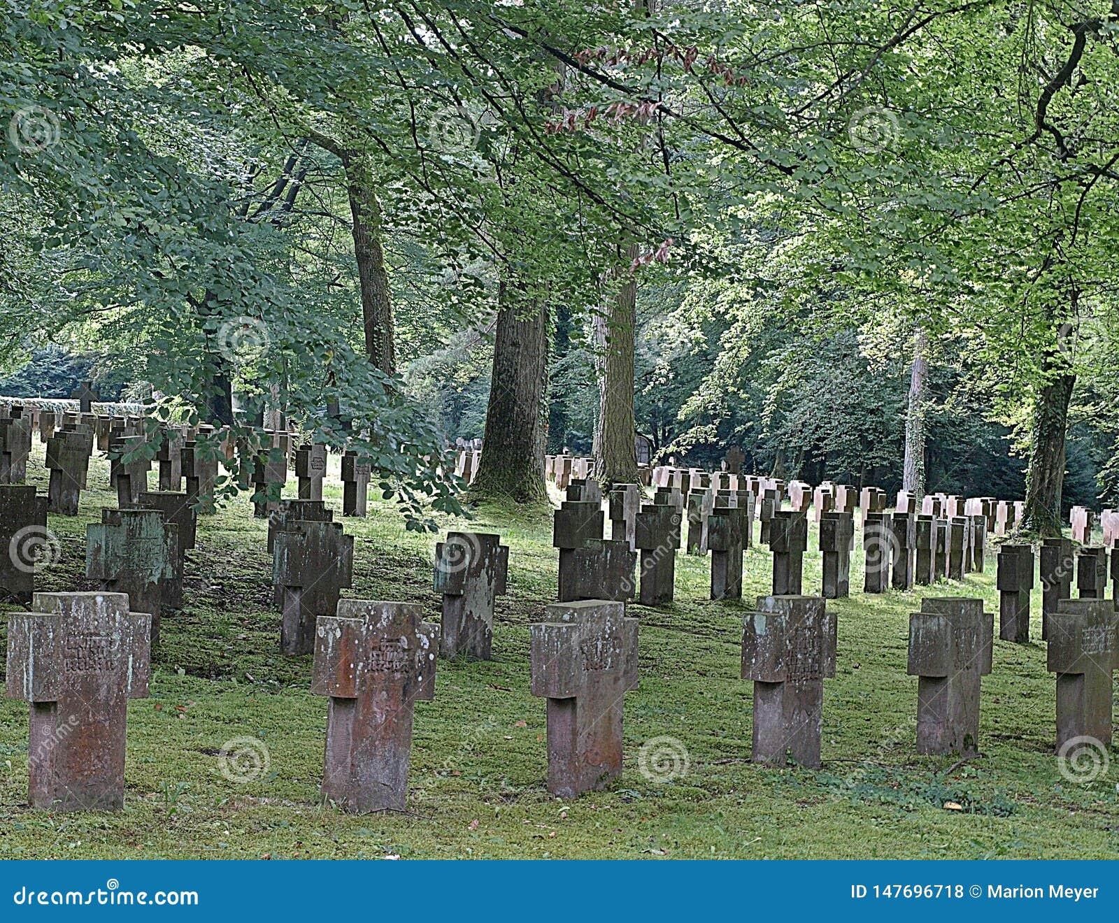 Oude begraafplaats in Stuttgart in Duitsland