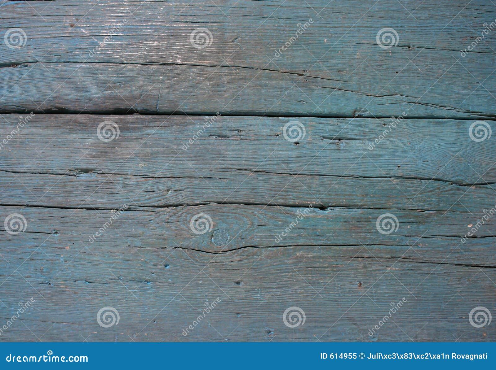 Oude blauwe houten textuurclose-up