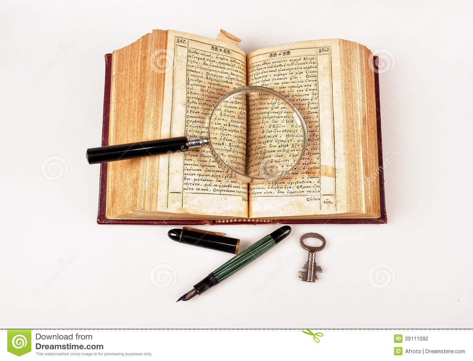 Oude boek en pen