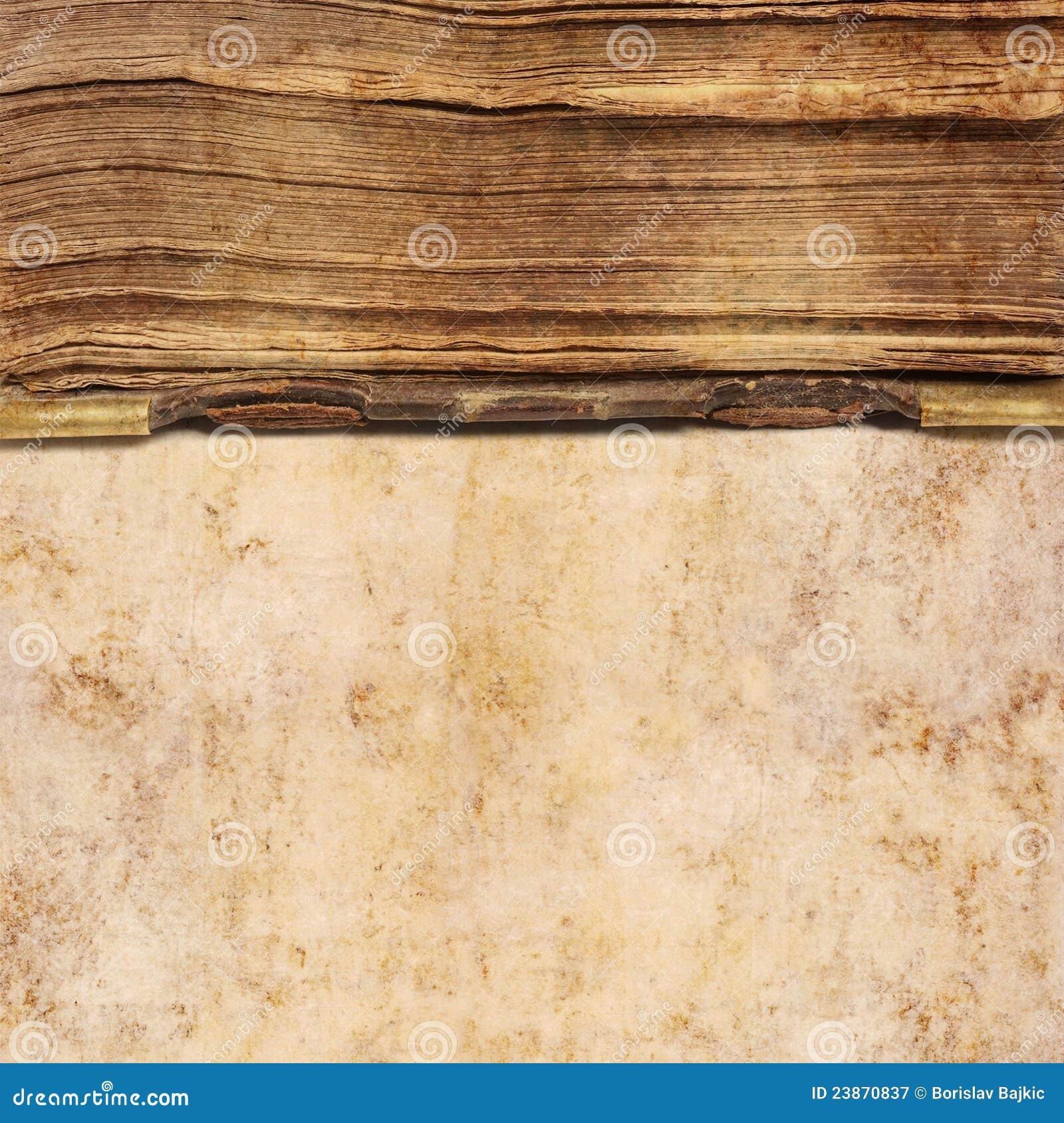 Oude boekachtergrond