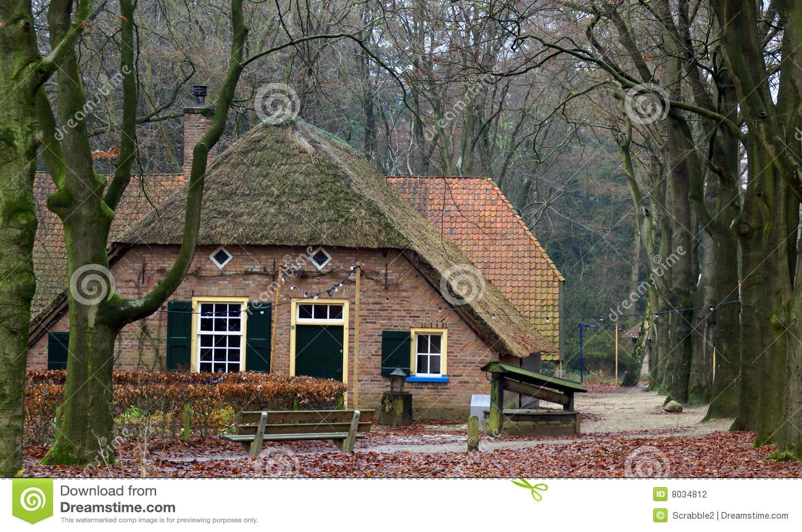 Oude boerderij op het nederlandse platteland stock foto afbeelding 8034812 - Foto huis in l ...