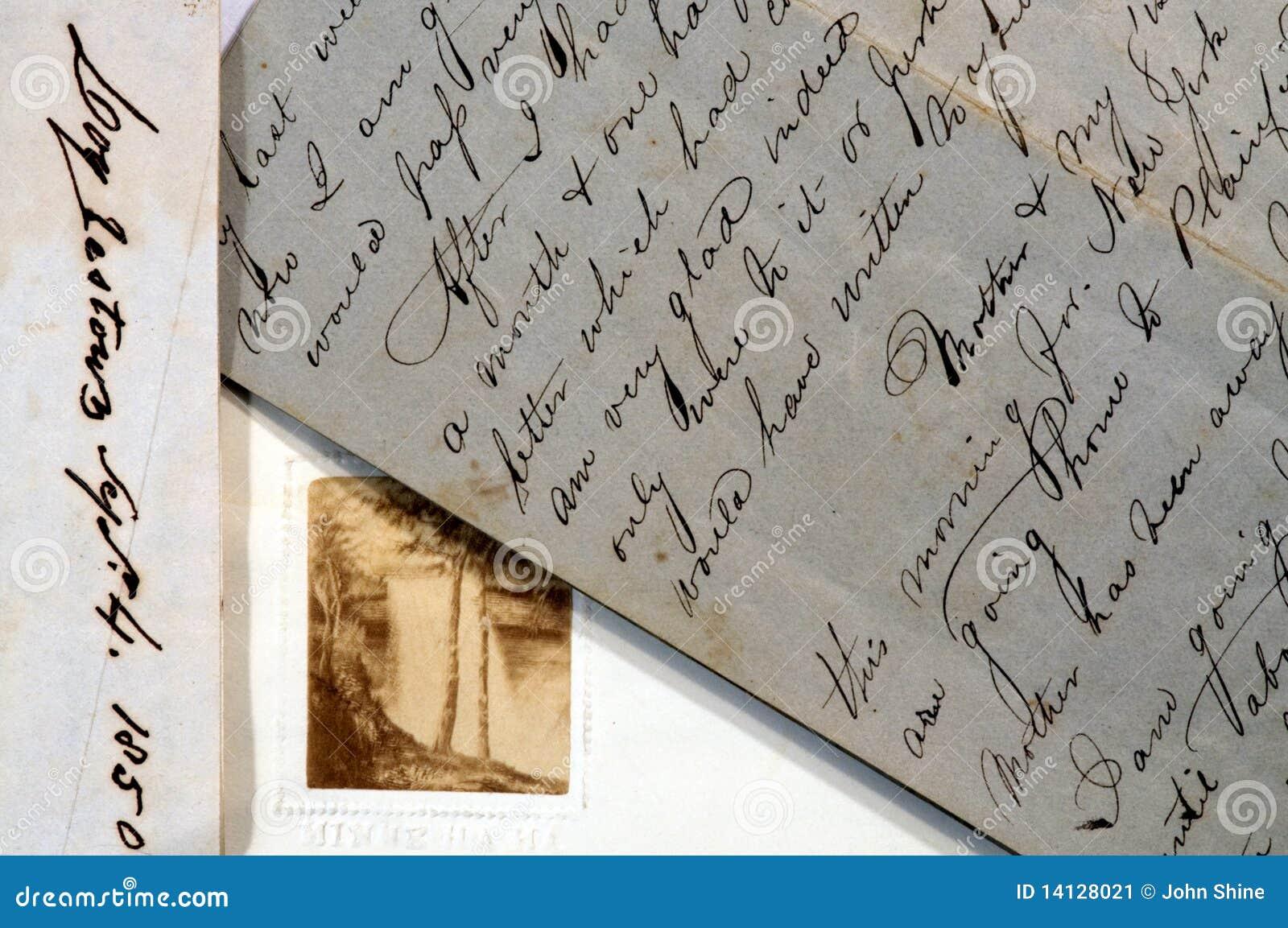 Oude brieven met manuscript het schrijven