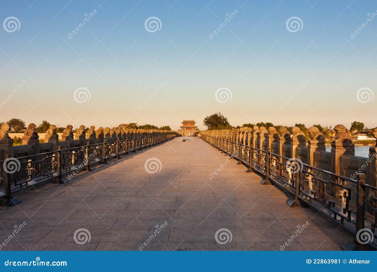 oude brug lugou de brug van marco polo peking stock afbeelding afbeelding bestaande uit park. Black Bedroom Furniture Sets. Home Design Ideas