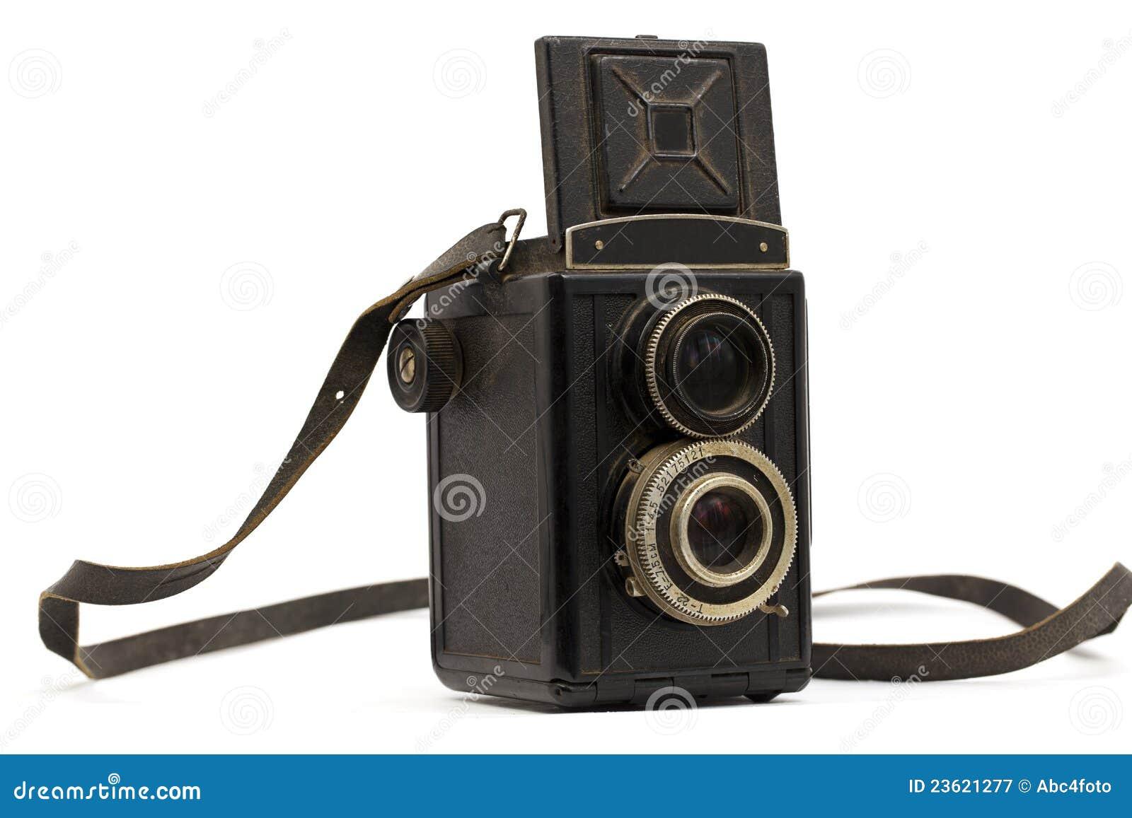 Oude camera met een riem