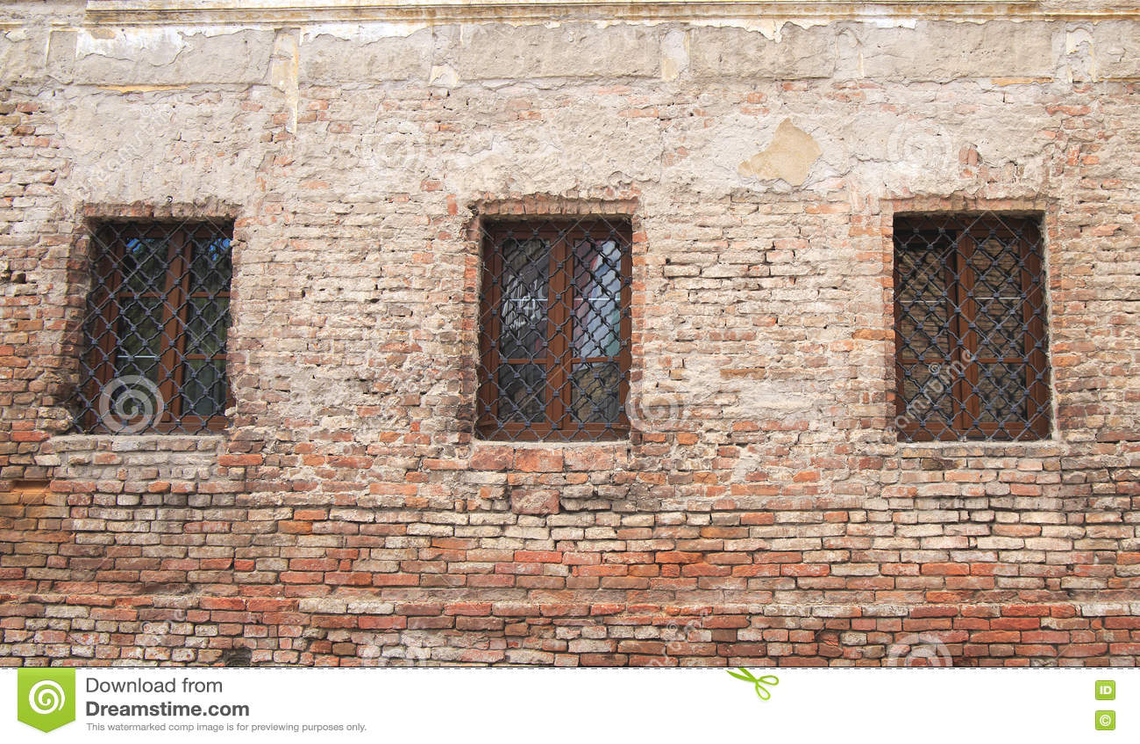 Oude de bouwruine, vensters