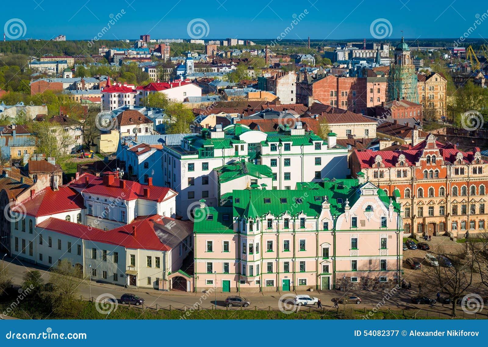 Oude de stads luchtmening van Viborg