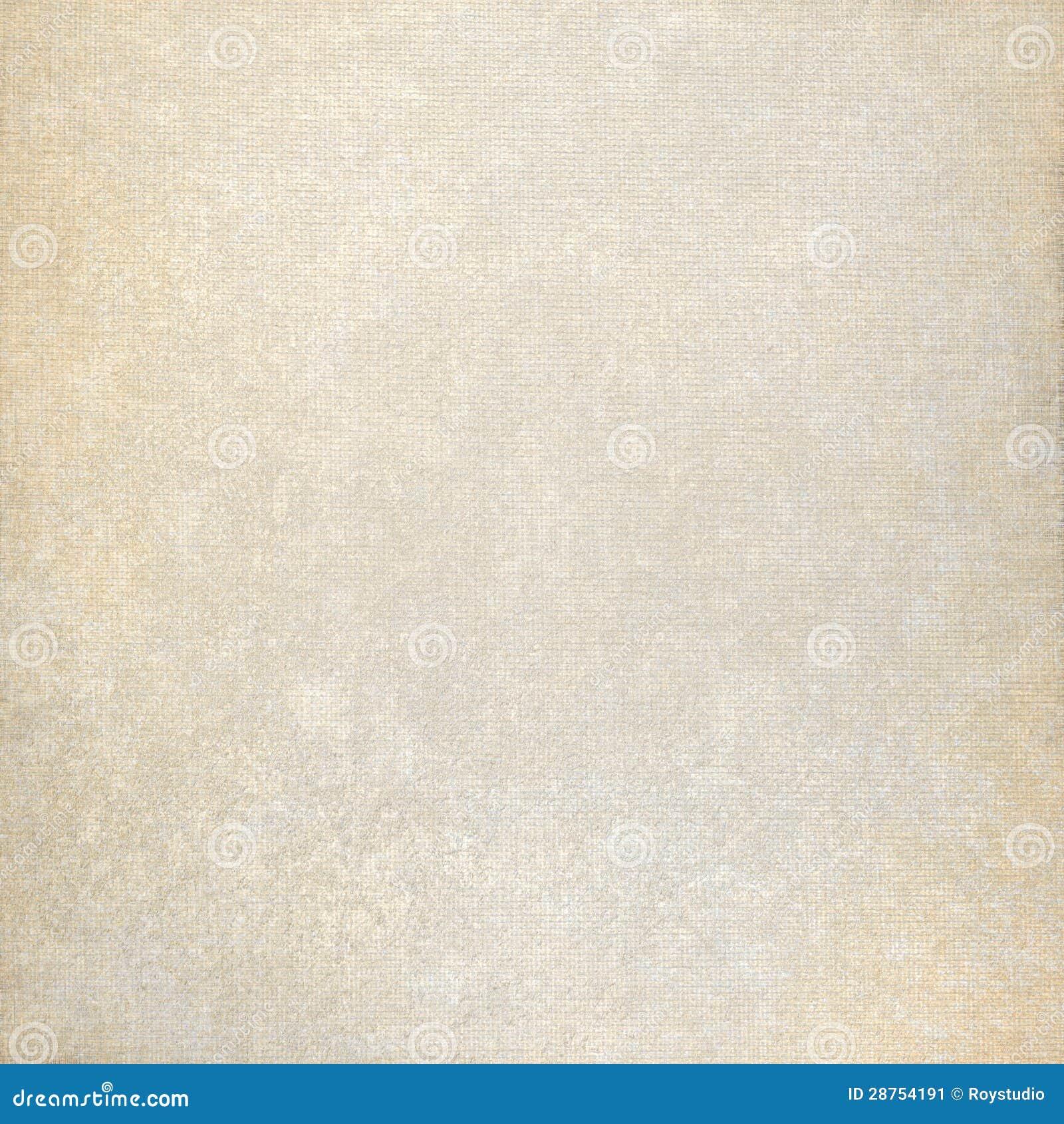 Oude document achtergrond en de beige textuur van het stoffencanvas met subtiele vlekken