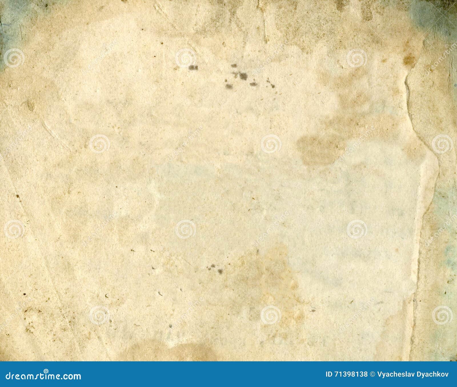 Oude document textuur Grunge oud document voor schatkaart of wijnoogst