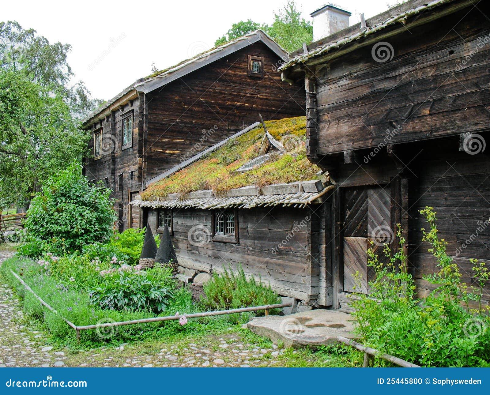 Oude ecologische Zweedse cabine