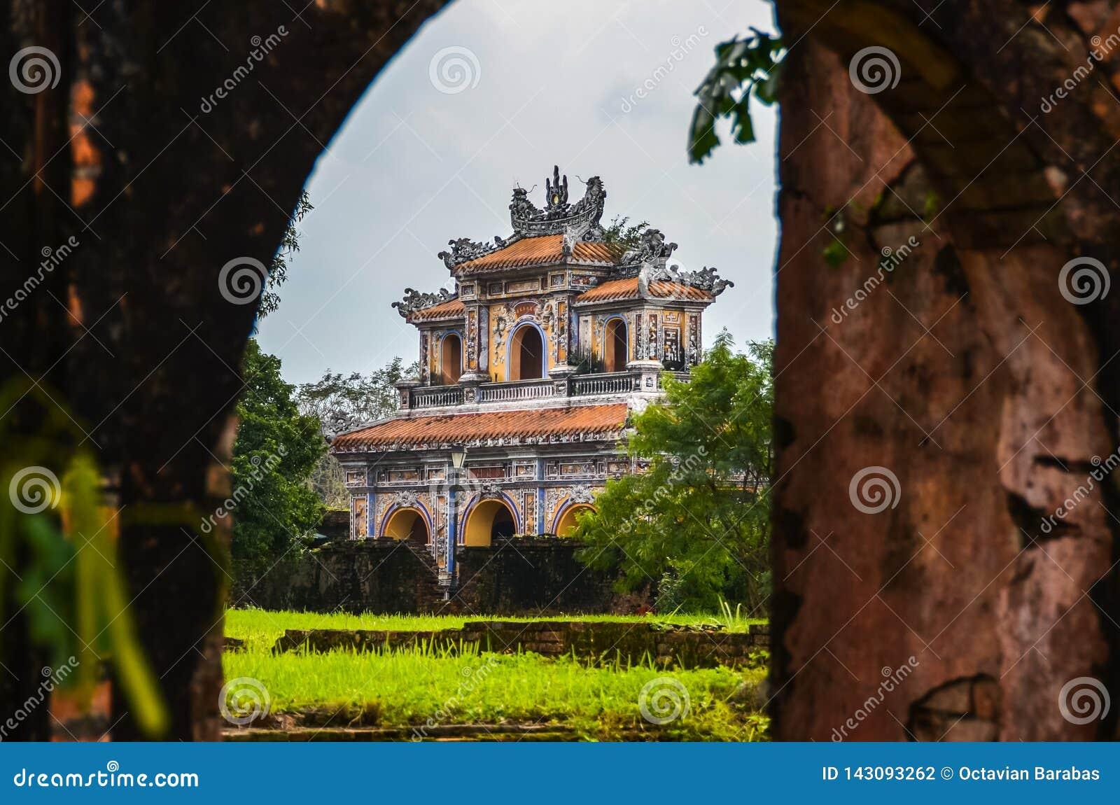 Oude en mooie Tempel in Vietnam