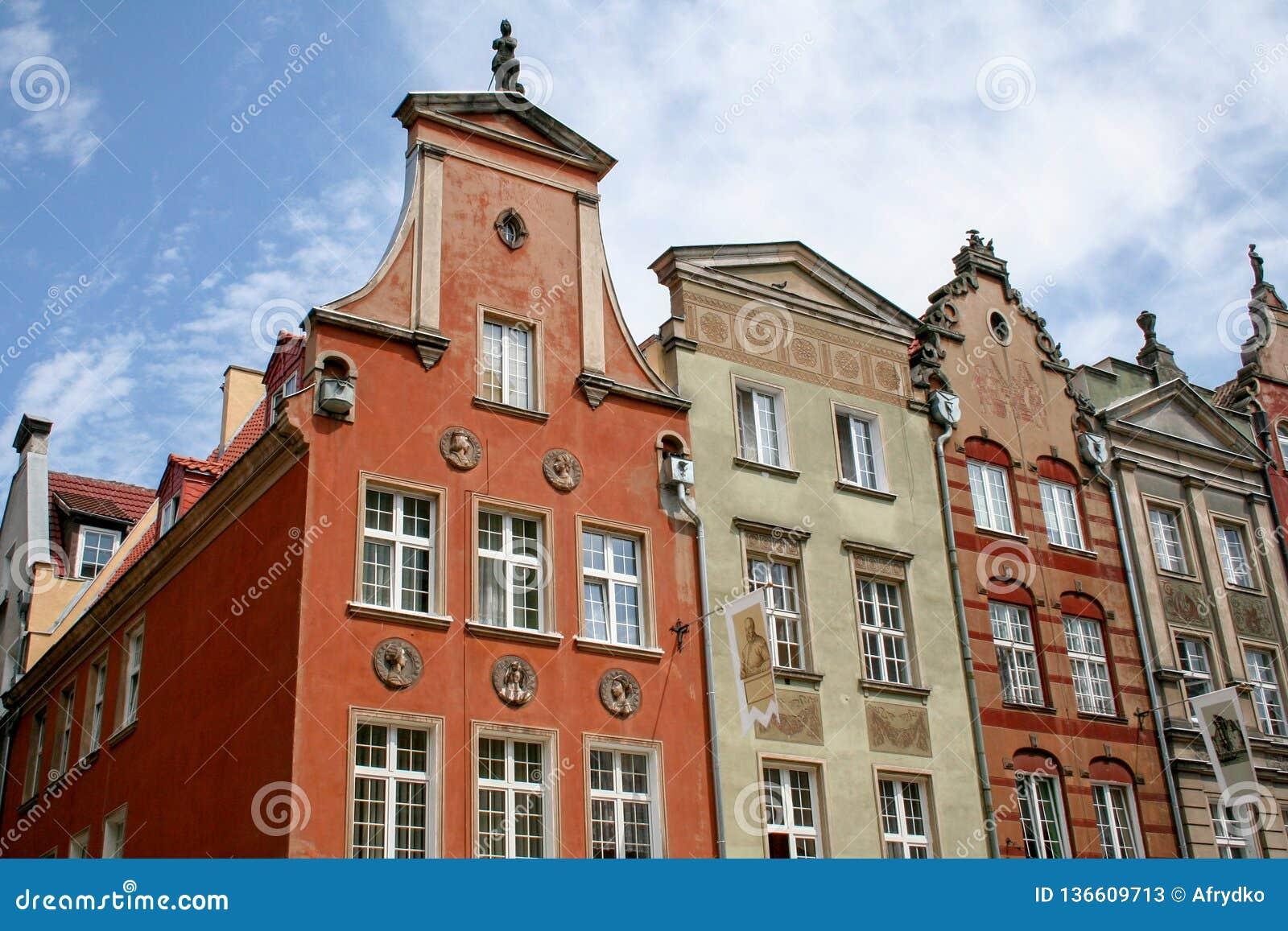 Oude gebouwen in Gdansk, Polen