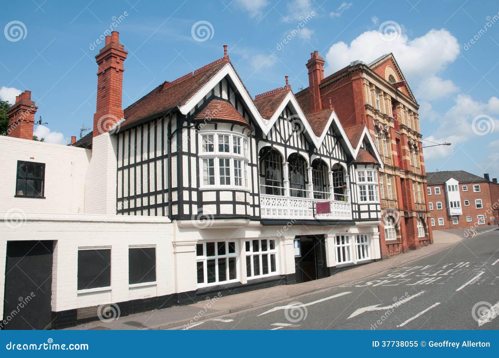 Oude gebouwen van Worcester
