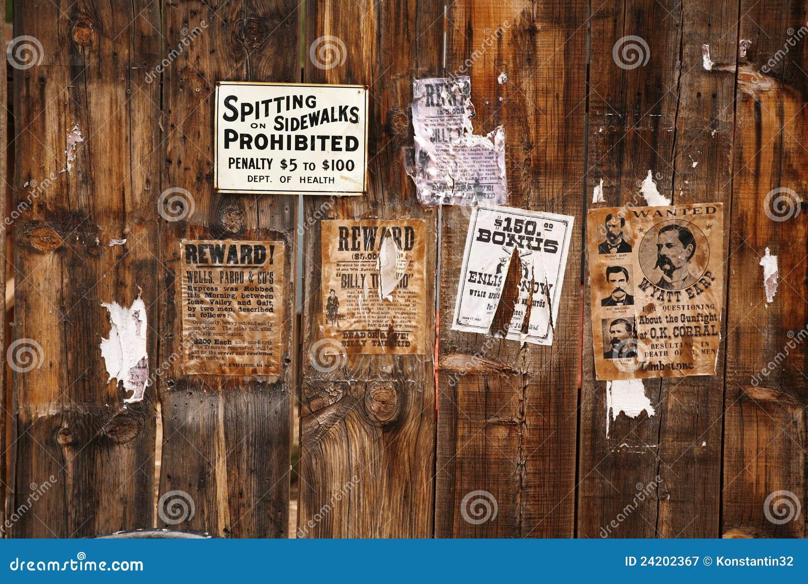 Oude gewilde affiche 18xx