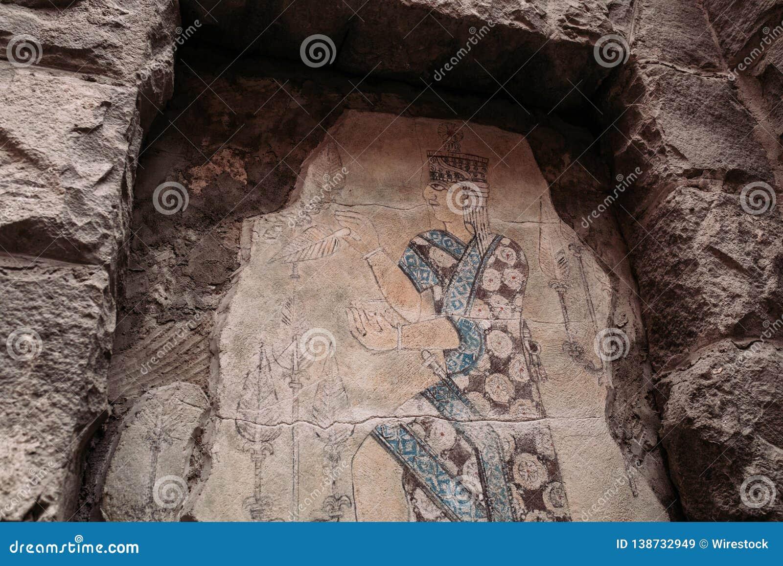 Oude gravure in Armenië