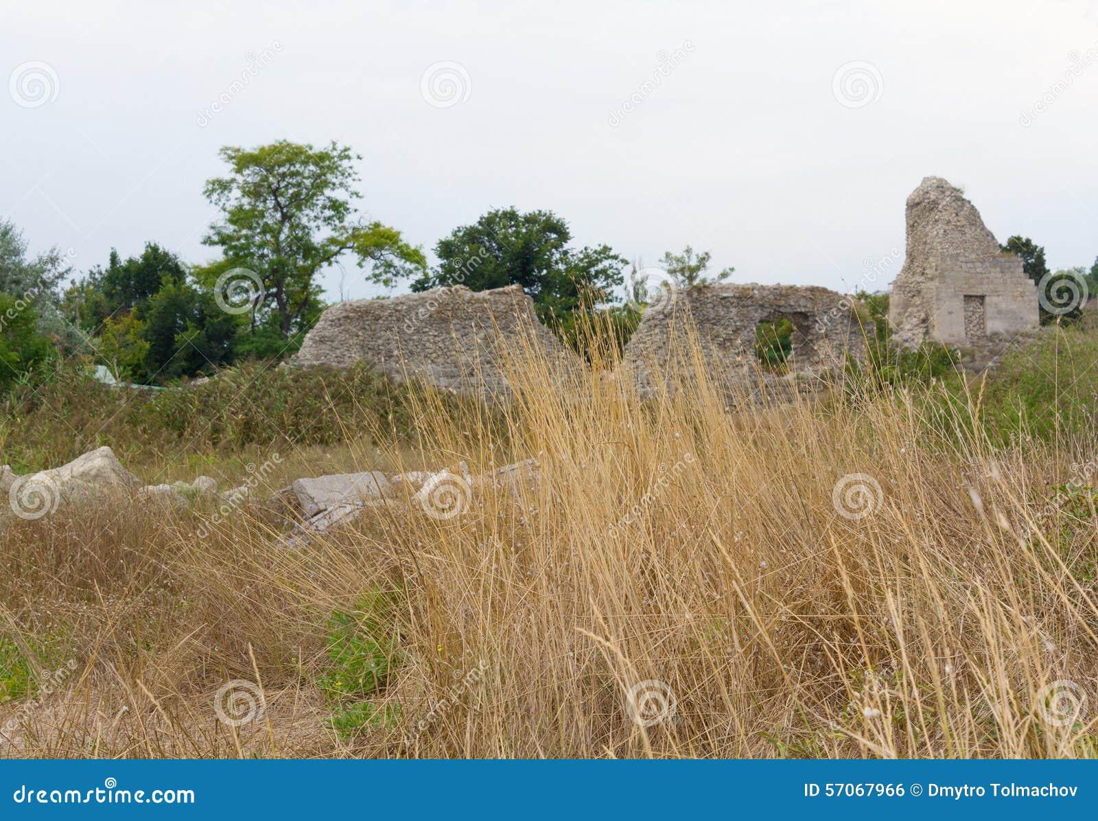 Oude Griekse Chersonesus Taurica dichtbij Sebastopol in de Krim