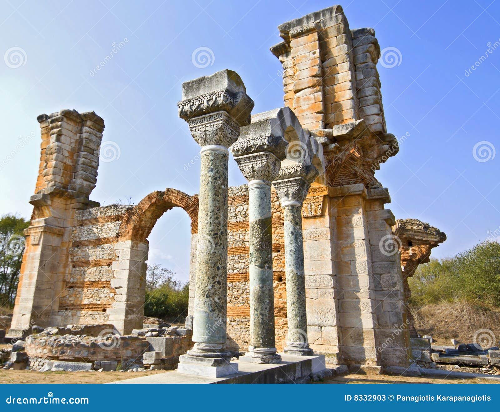 Oude griekse tempel stock afbeelding afbeelding bestaande uit zeegebied 8332903 - Oude griekse decoratie ...