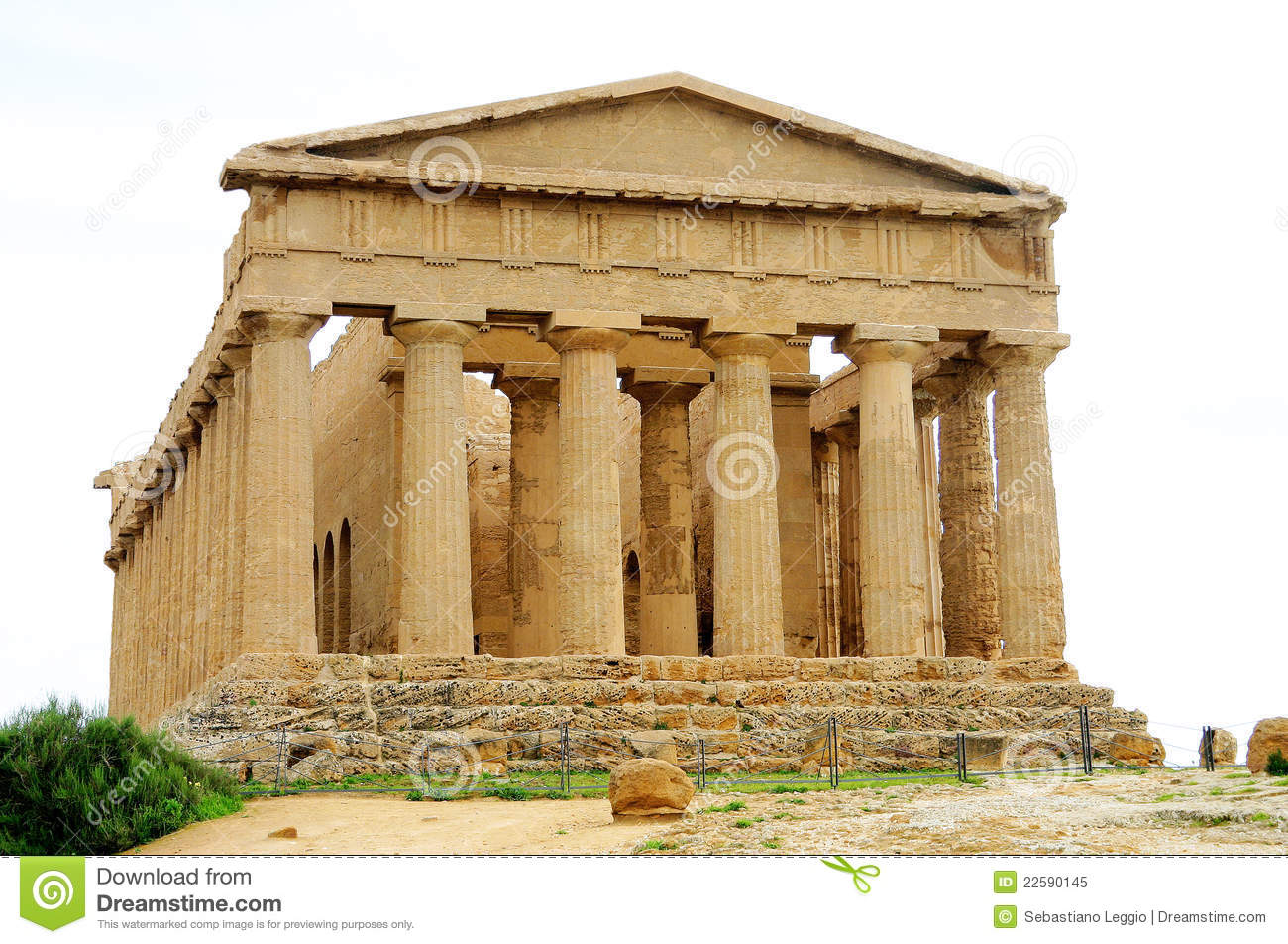 Oude griekse tempel in agrigento stock afbeelding afbeelding 22590145 - Oude griekse decoratie ...