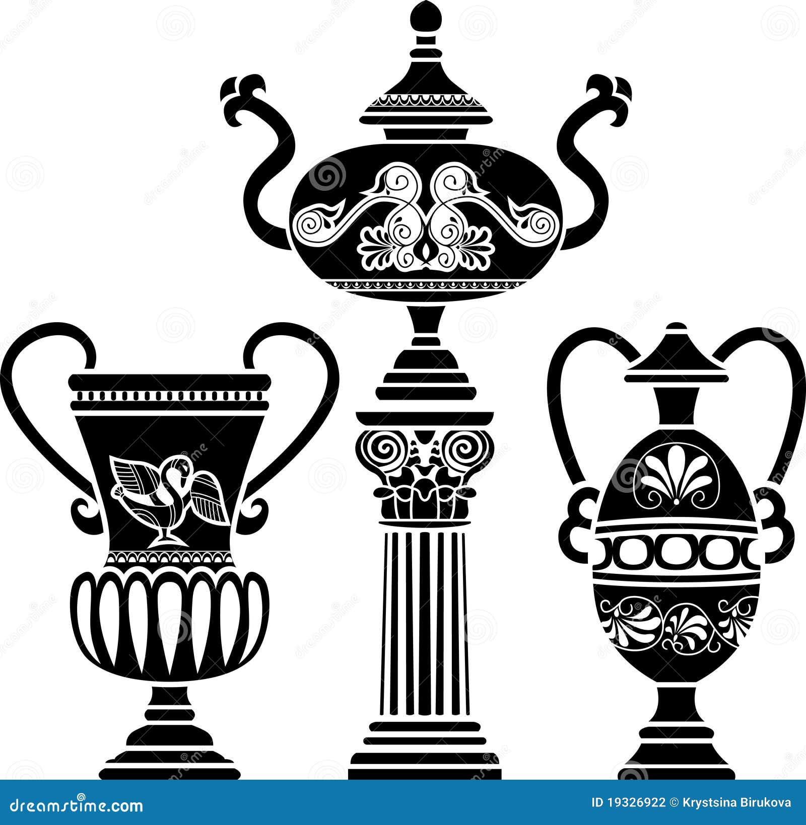 Oude griekse vaas vector illustratie afbeelding bestaande uit beeld 19326922 - Oude griekse decoratie ...