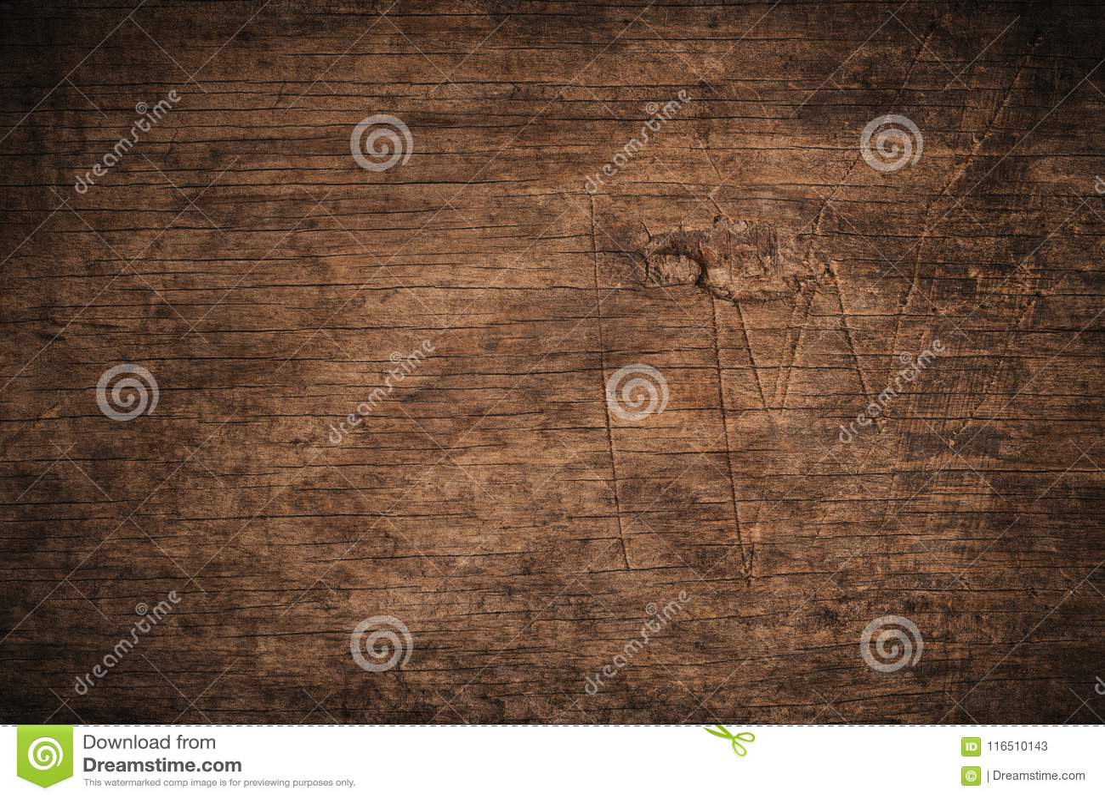 Oude grunge donkere geweven houten achtergrond, de oppervlakte van de oude bruine houten textuur, het hoogste mening bruine houte