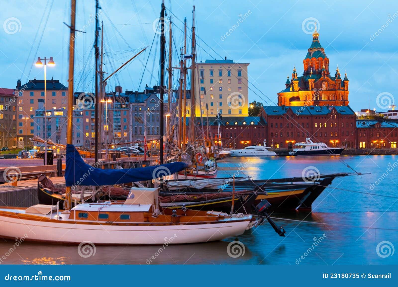 Oude Haven in Helsinki, Finland