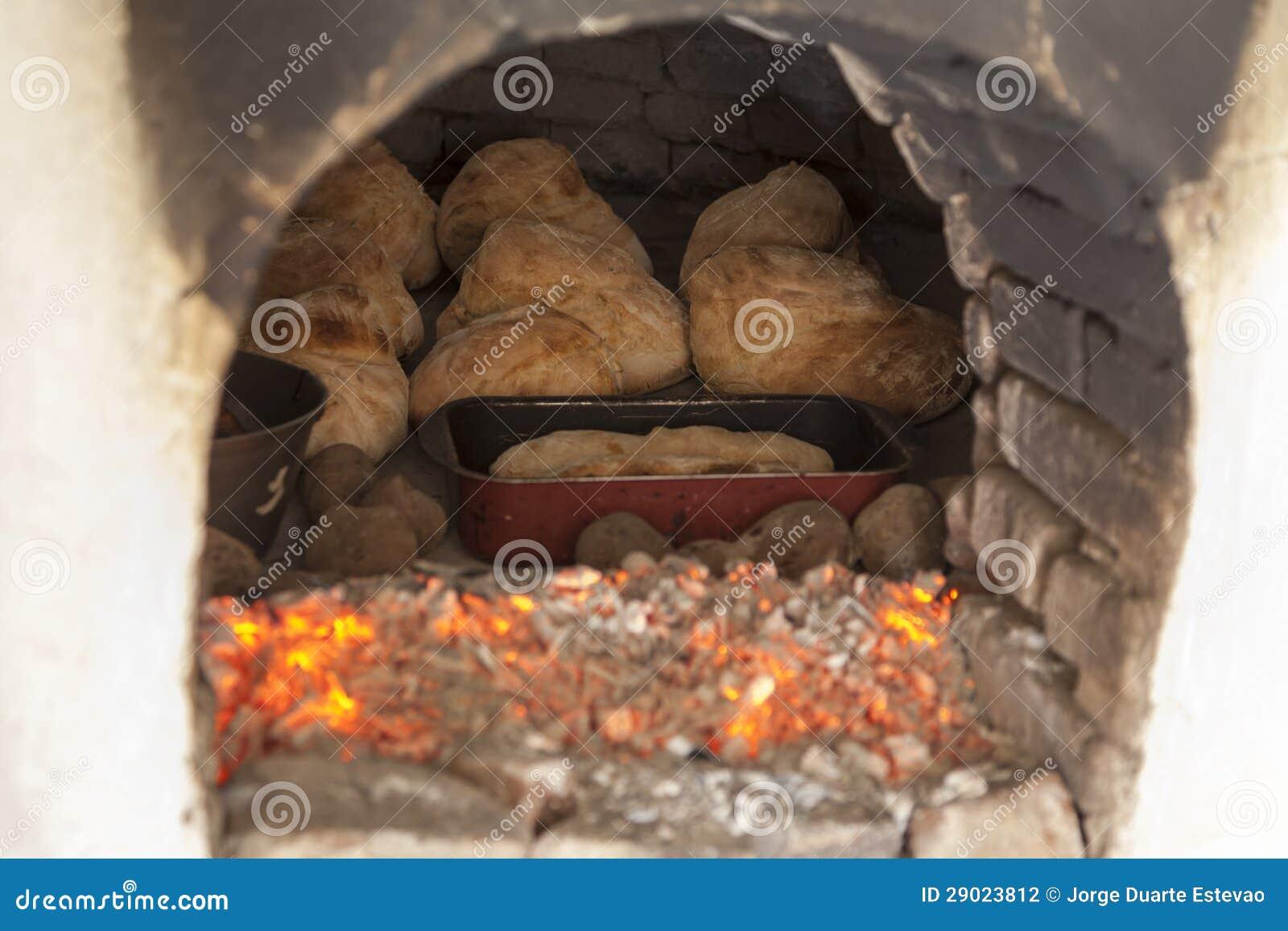 Oude houten oven