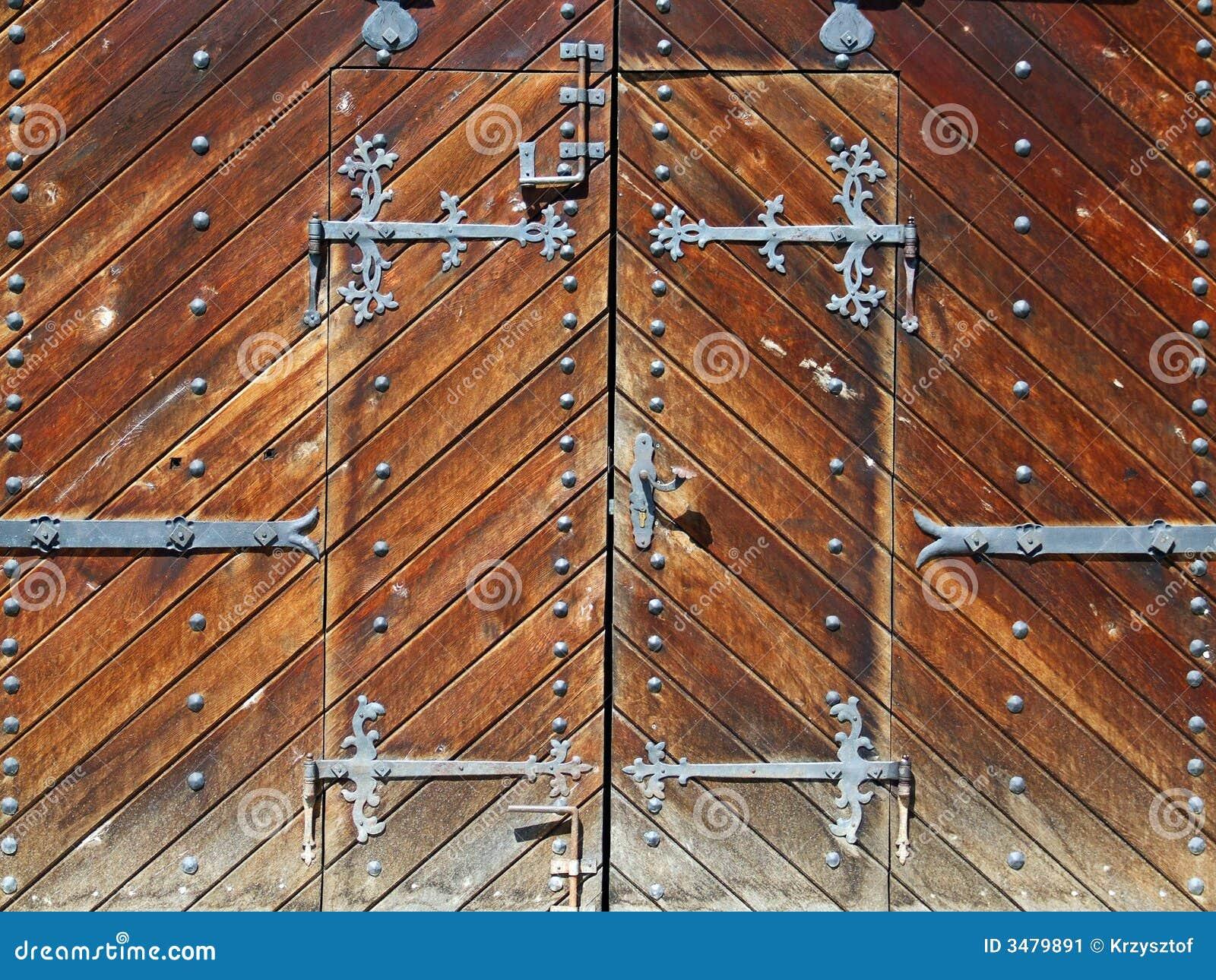 Oude houten poort stock afbeelding afbeelding 3479891 - Puertas de madera antiguas ...