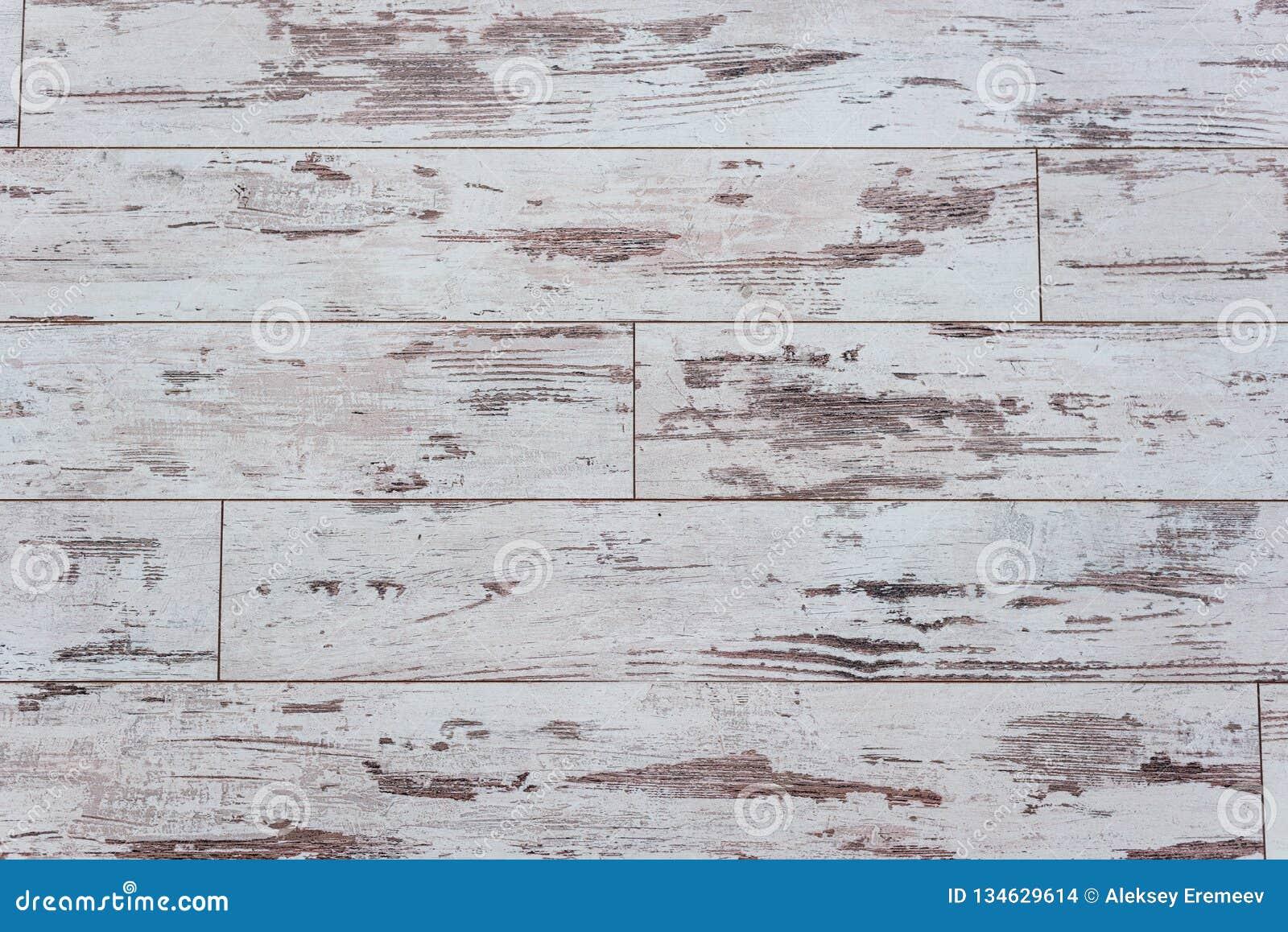 Oude houten raad Houten muur met een sjofele oude verf Omheining Houten Textuur Dwarsdoorsnede van de boom Achtergrond