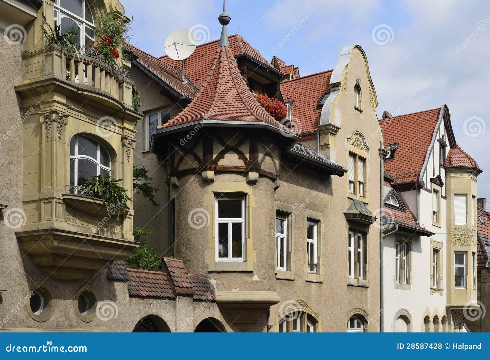 Oude huizen stuttgart stock foto afbeelding bestaande uit schilderachtig 28587428 - Foto huizen ...