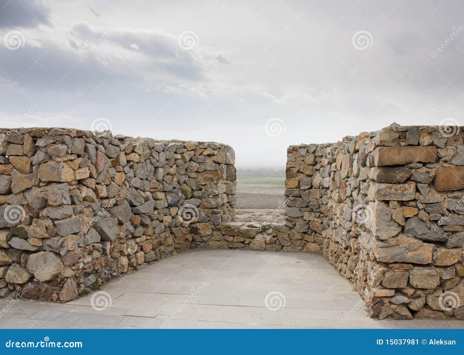 Oude kasteelmuur