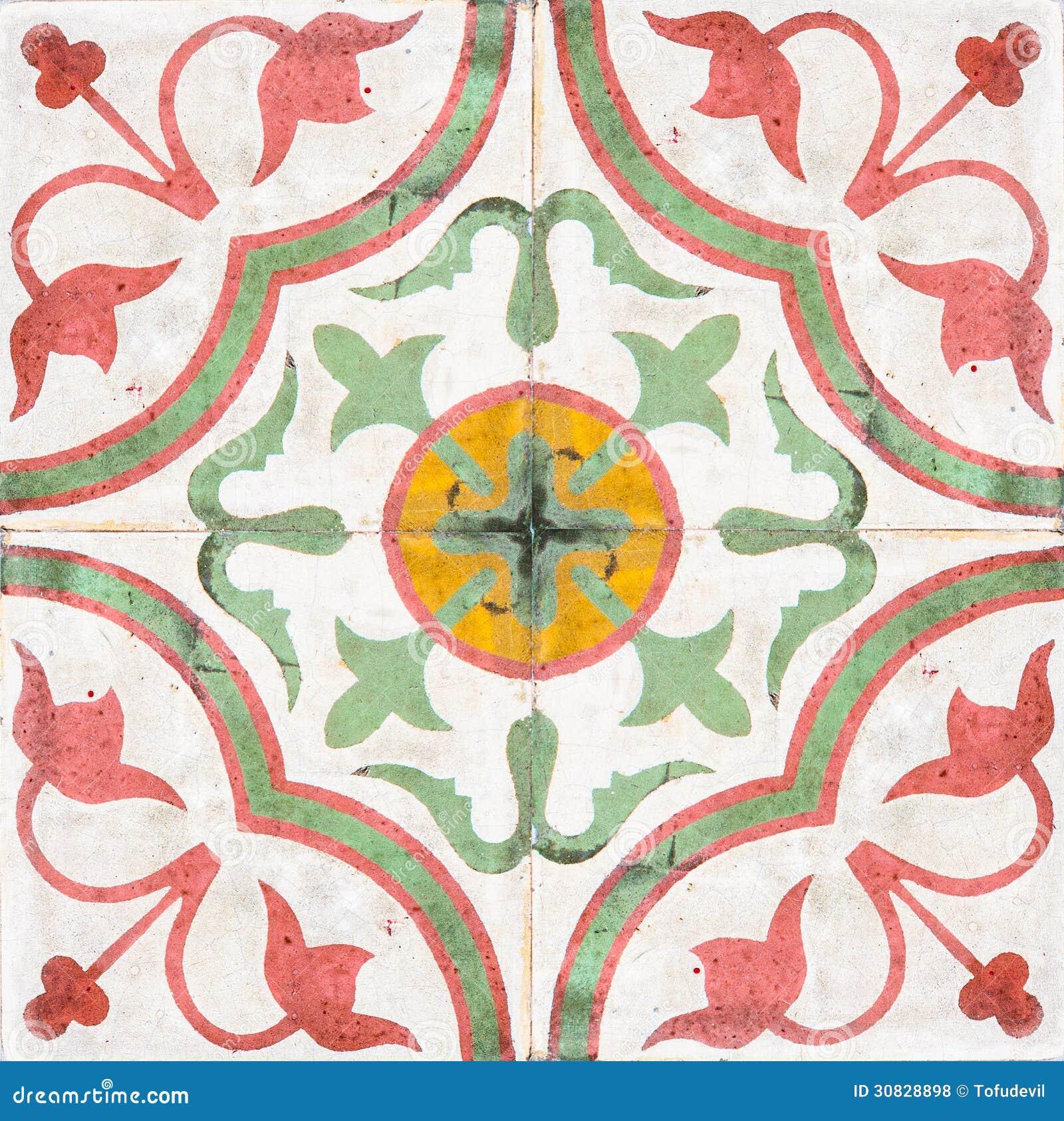 Oude keramische tegels royalty vrije stock foto 39 s afbeelding 30828898 - Oude patroon tegel ...