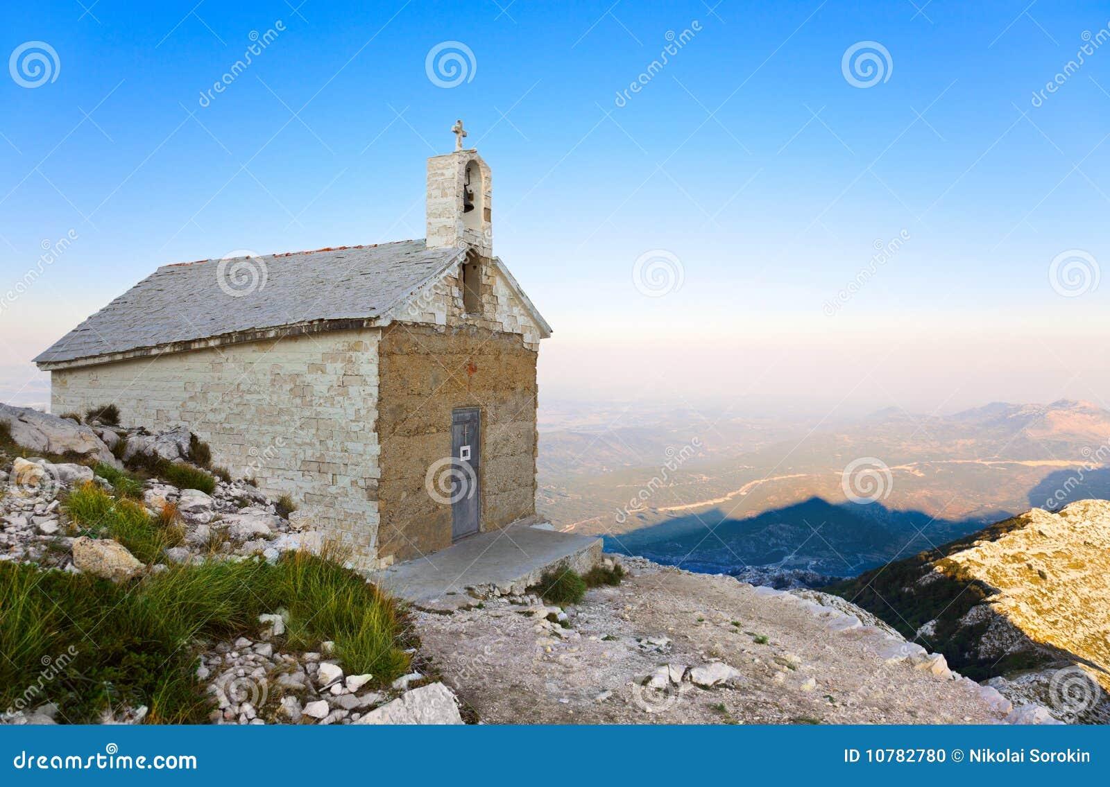 Oude kerk in bergen, Kroatië