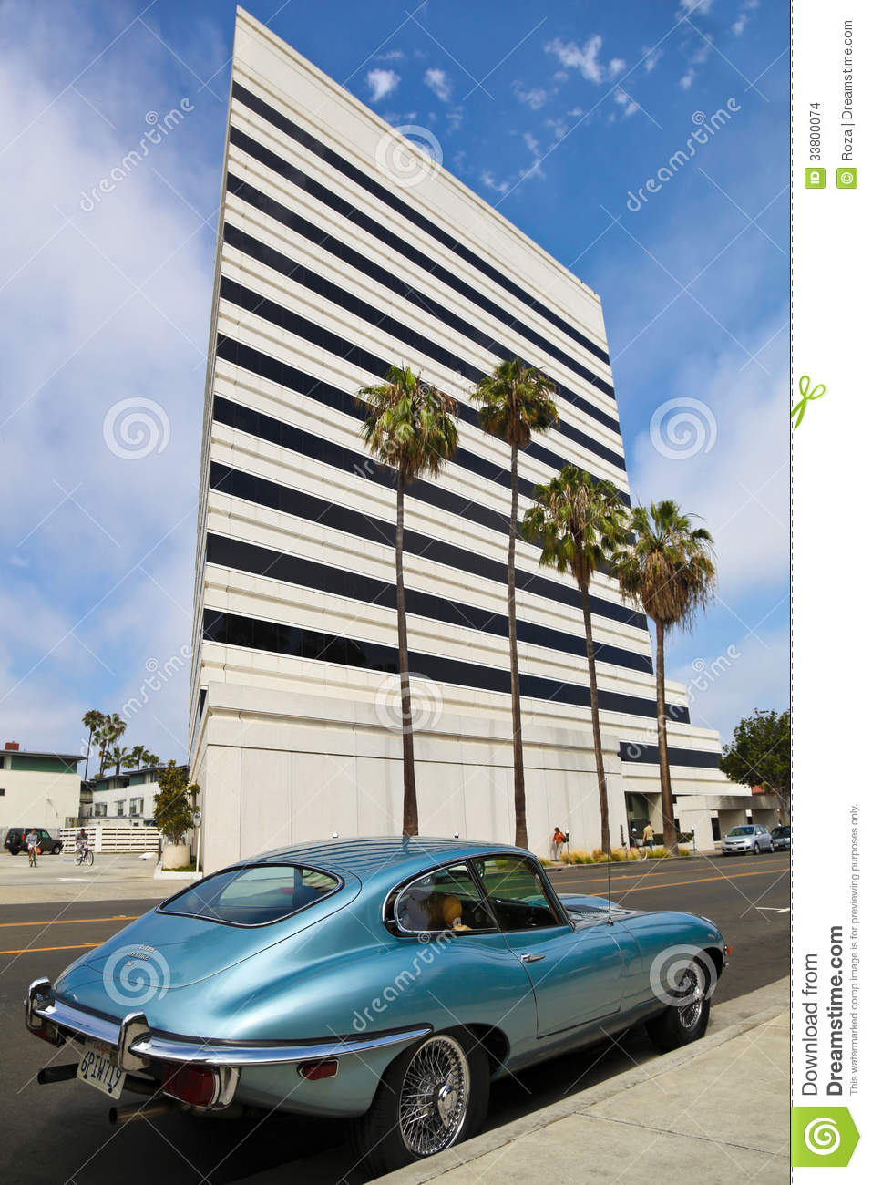 Oude klassieke auto jaguar redactionele stock afbeelding for Major motors santa monica