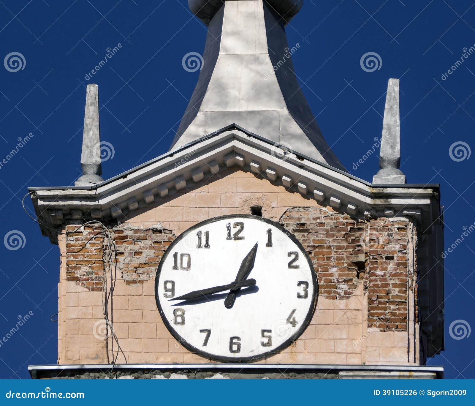 Oude klok van de oude toren