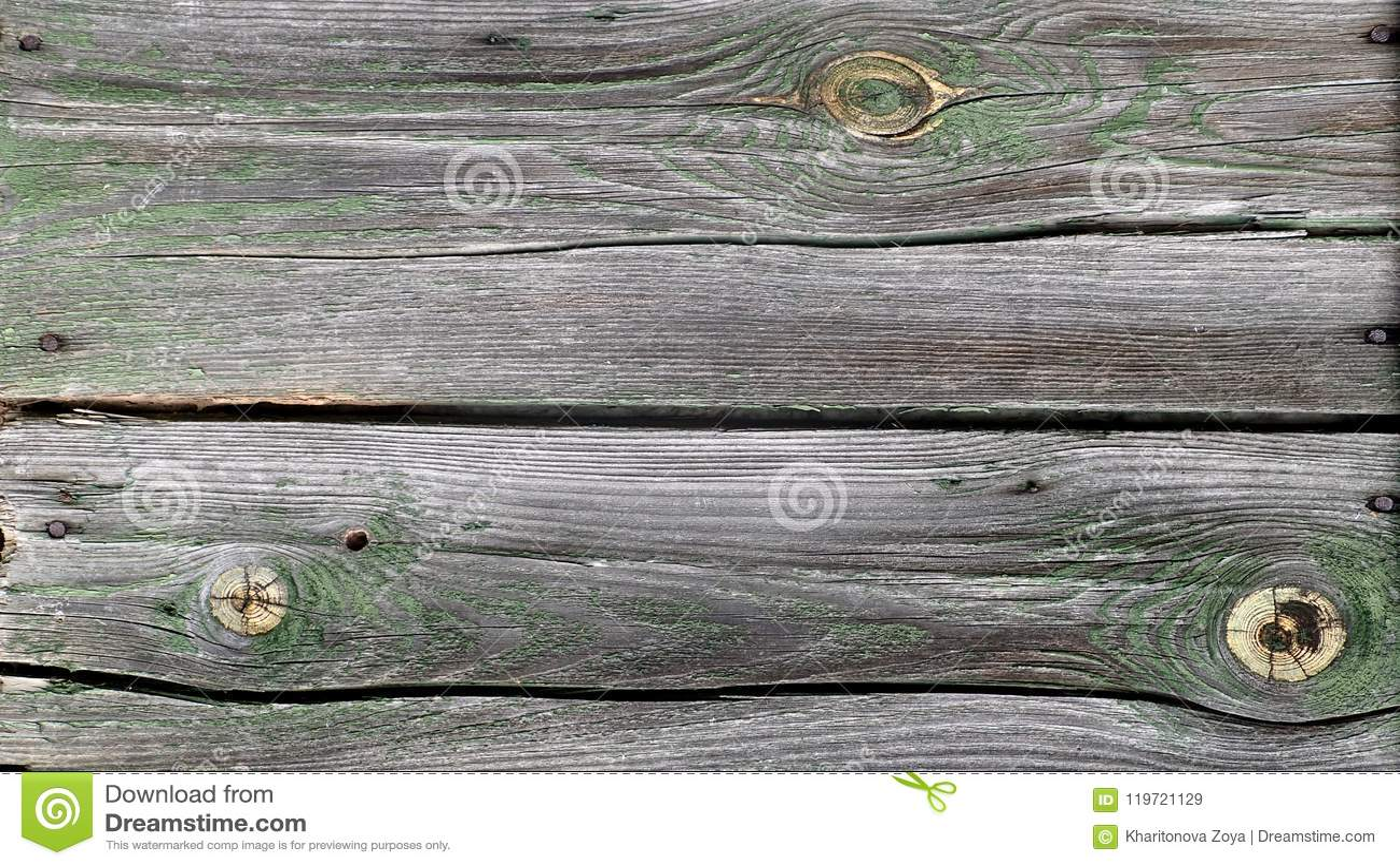Oude langzaam verdwenen houten muurachtergrond