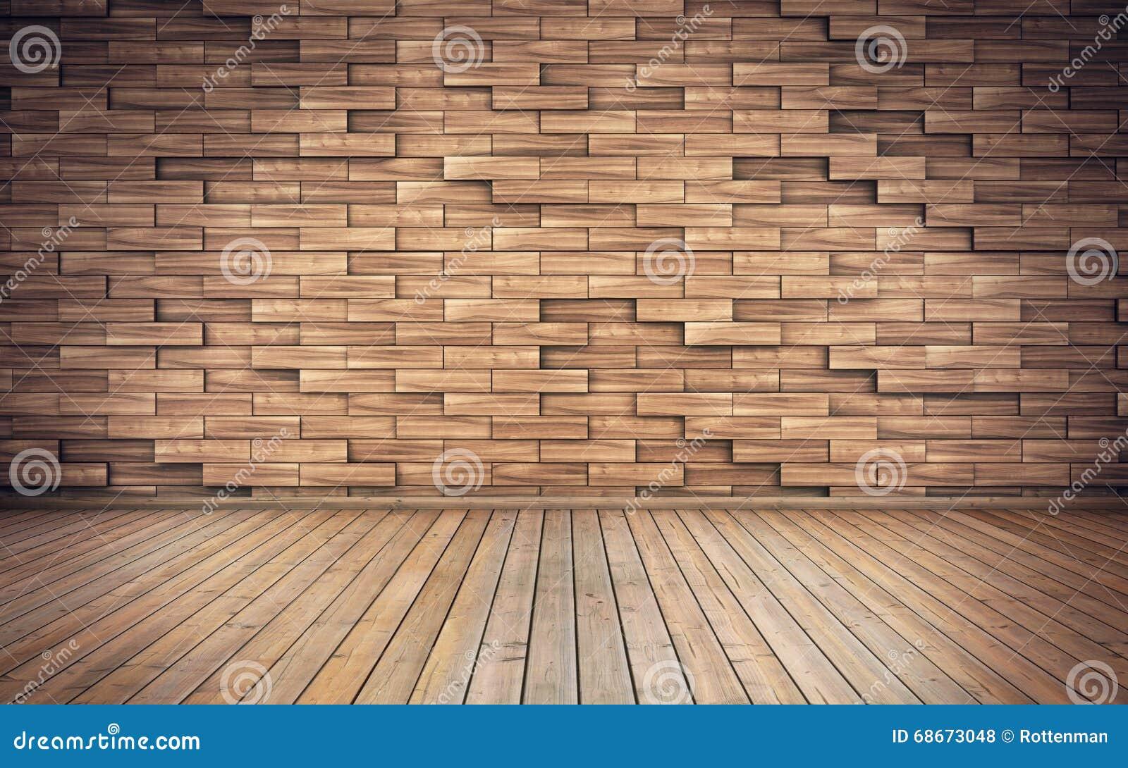 Oude lege ruimte met houten planken op muur stock illustratie ...
