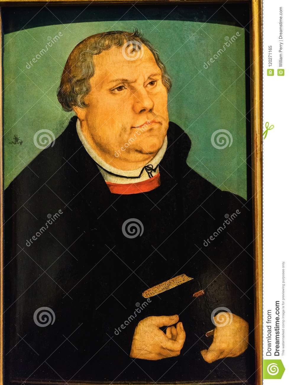 Oude Luther Portrait Painting Luther & x27; s Huis Lutherstadt Wittenbe