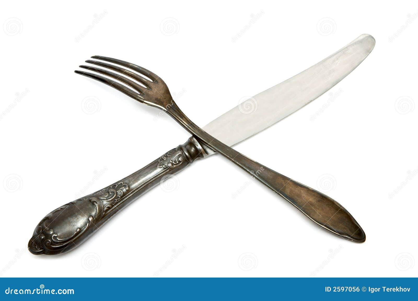 Oude mes en vork