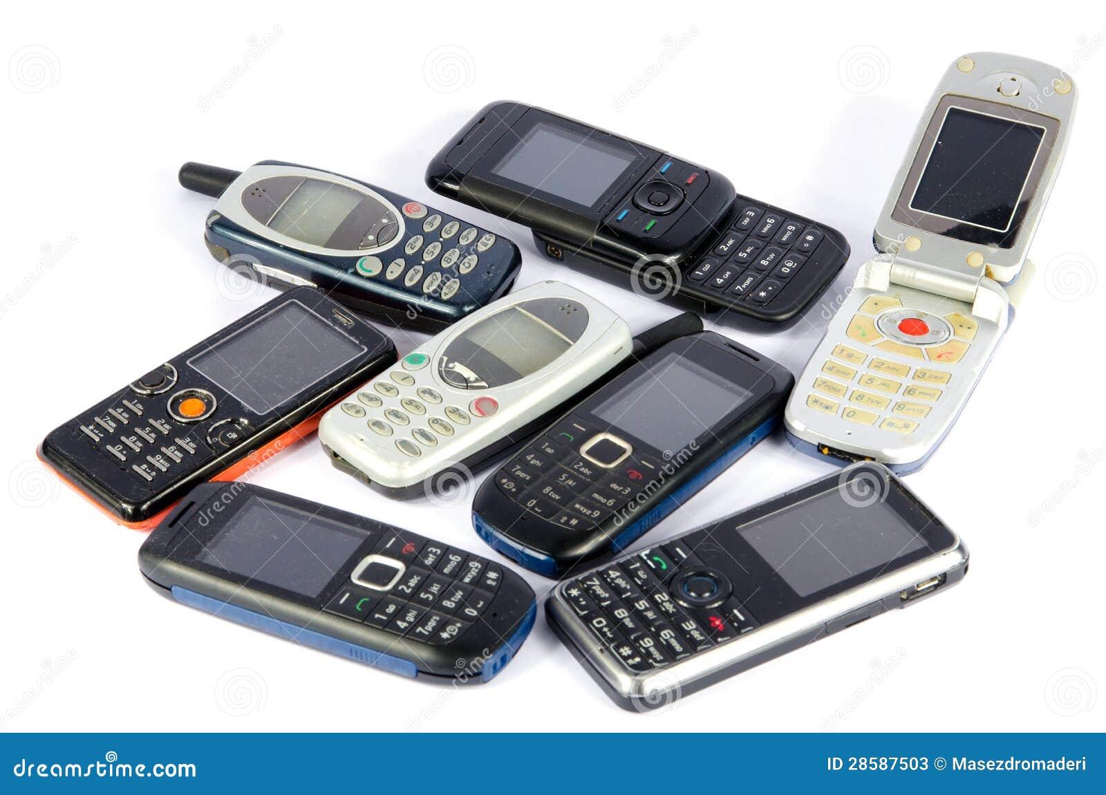 Oude Mobiele telefoons