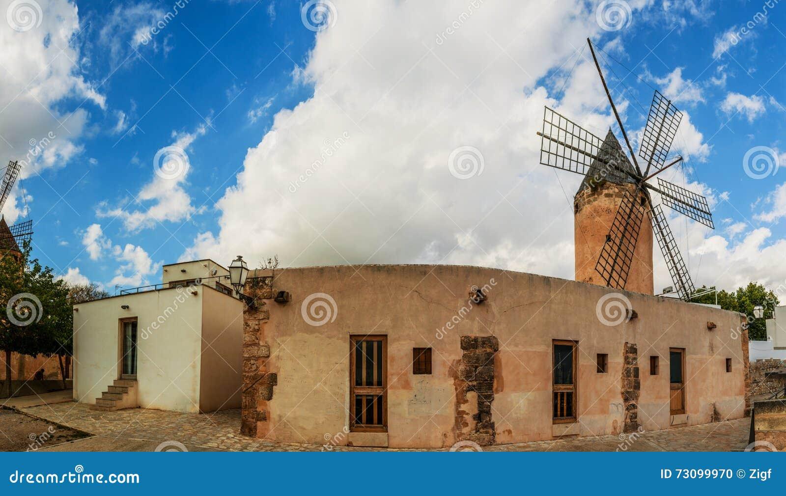 Oude molens van Gr Jonquet, Palma, Mallorca