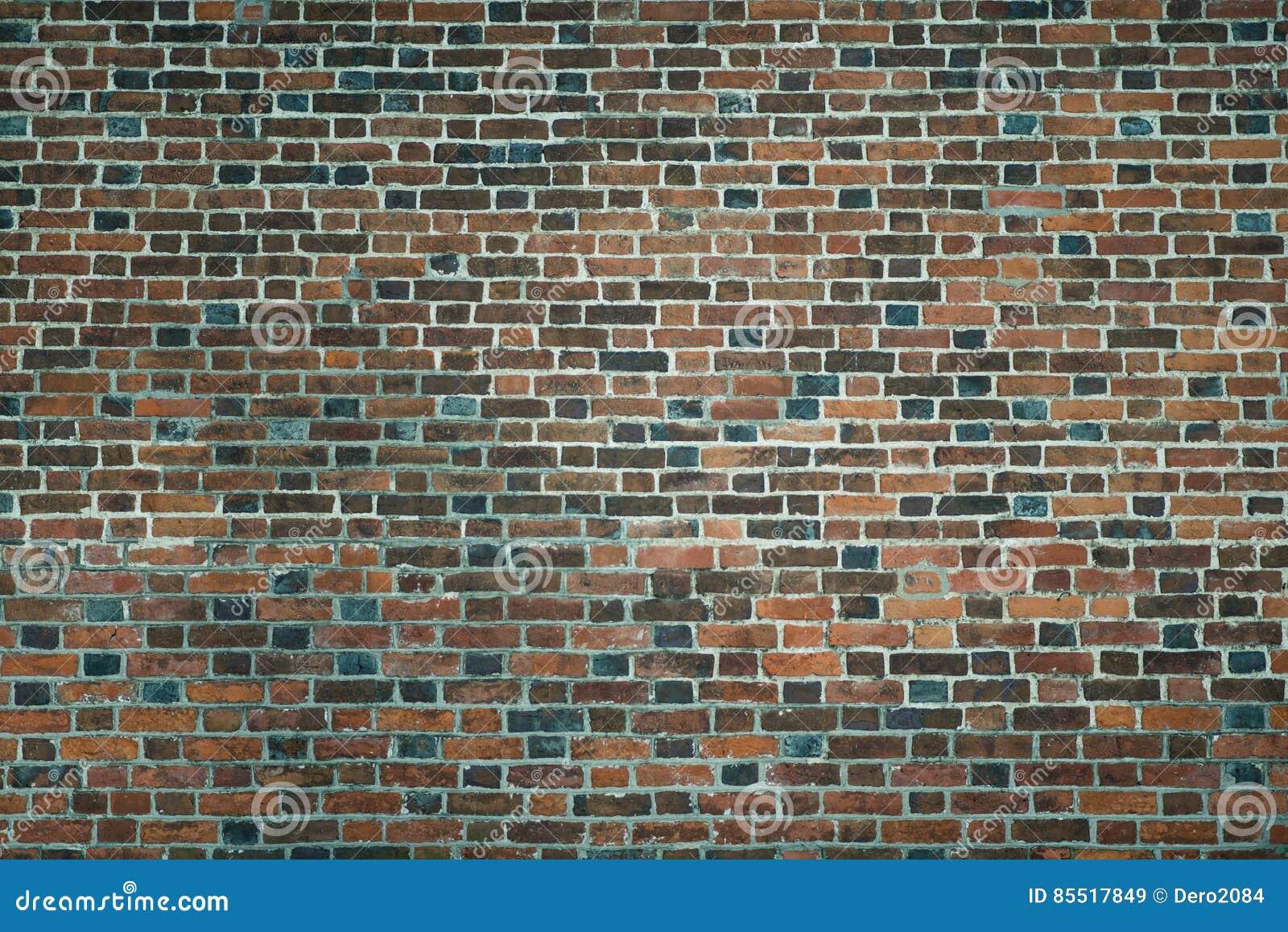 Oude muur van rode bakstenen behang van de gewone textuur van de de bouwmuur stock foto - Rode bakstenen lounge ...