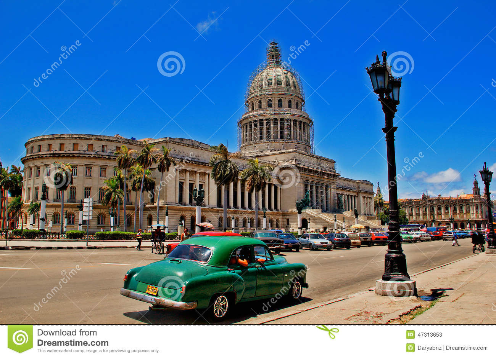 Oude retro auto in Havana, Cuba