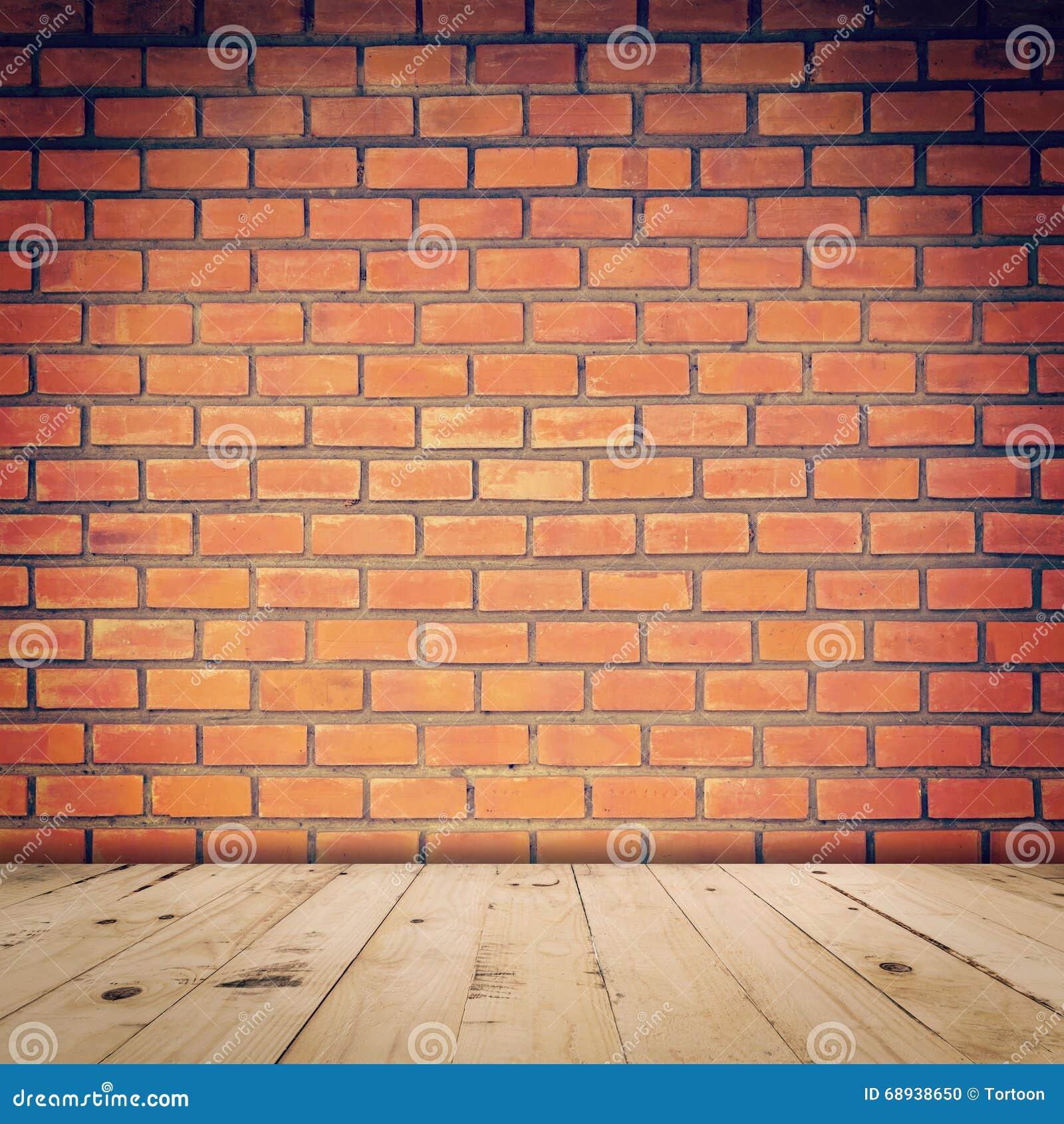Oude rode bakstenen muur en houten vloer stock foto afbeelding 68938650 - Grijze en rode muur ...