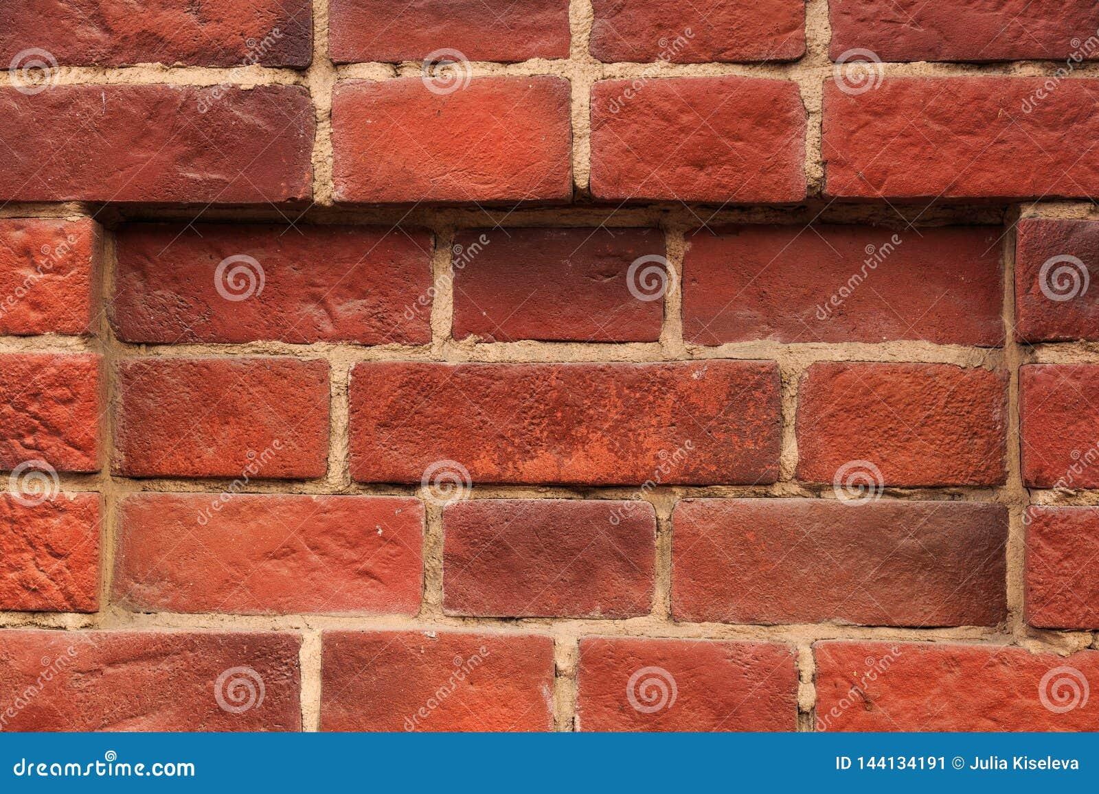 Oude rode bakstenen muurachtergrond