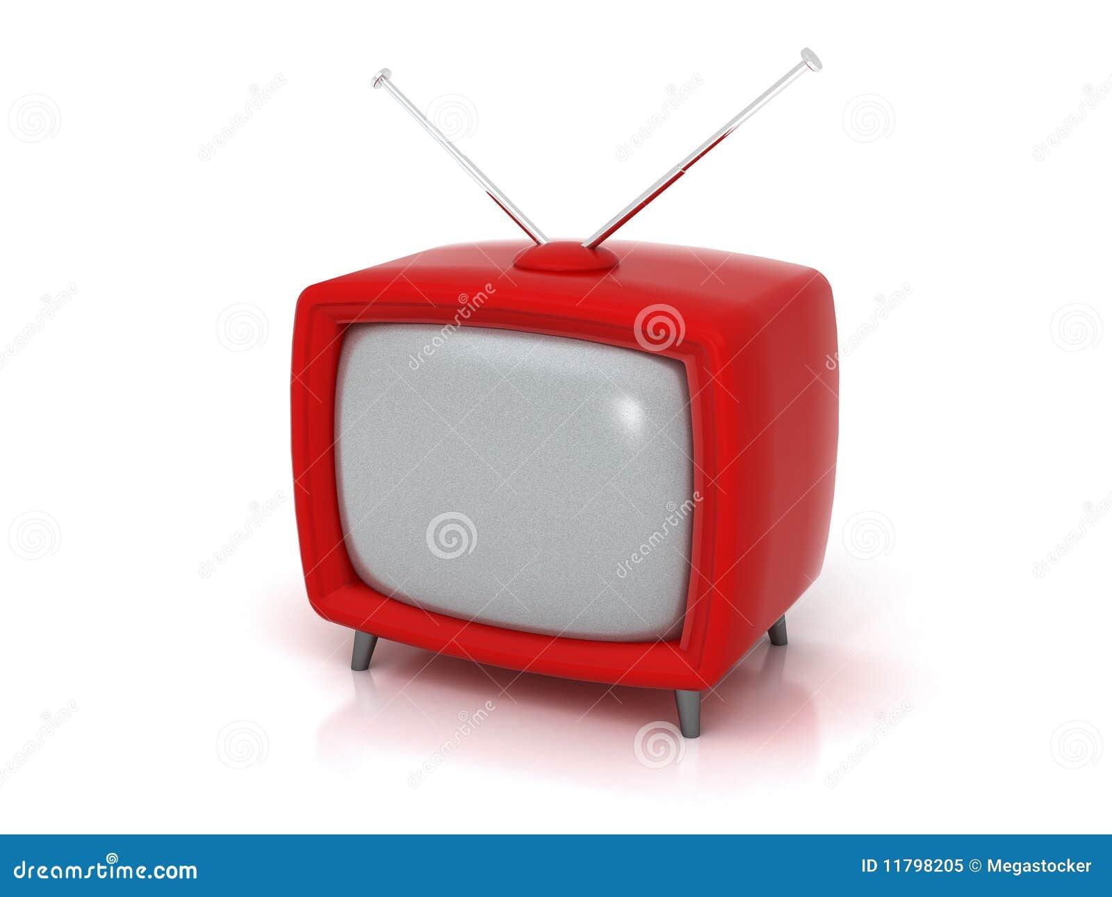 Oude rode tv 3d stock illustratie afbeelding bestaande uit ronde 11798205 - Meubilair tv rode ...