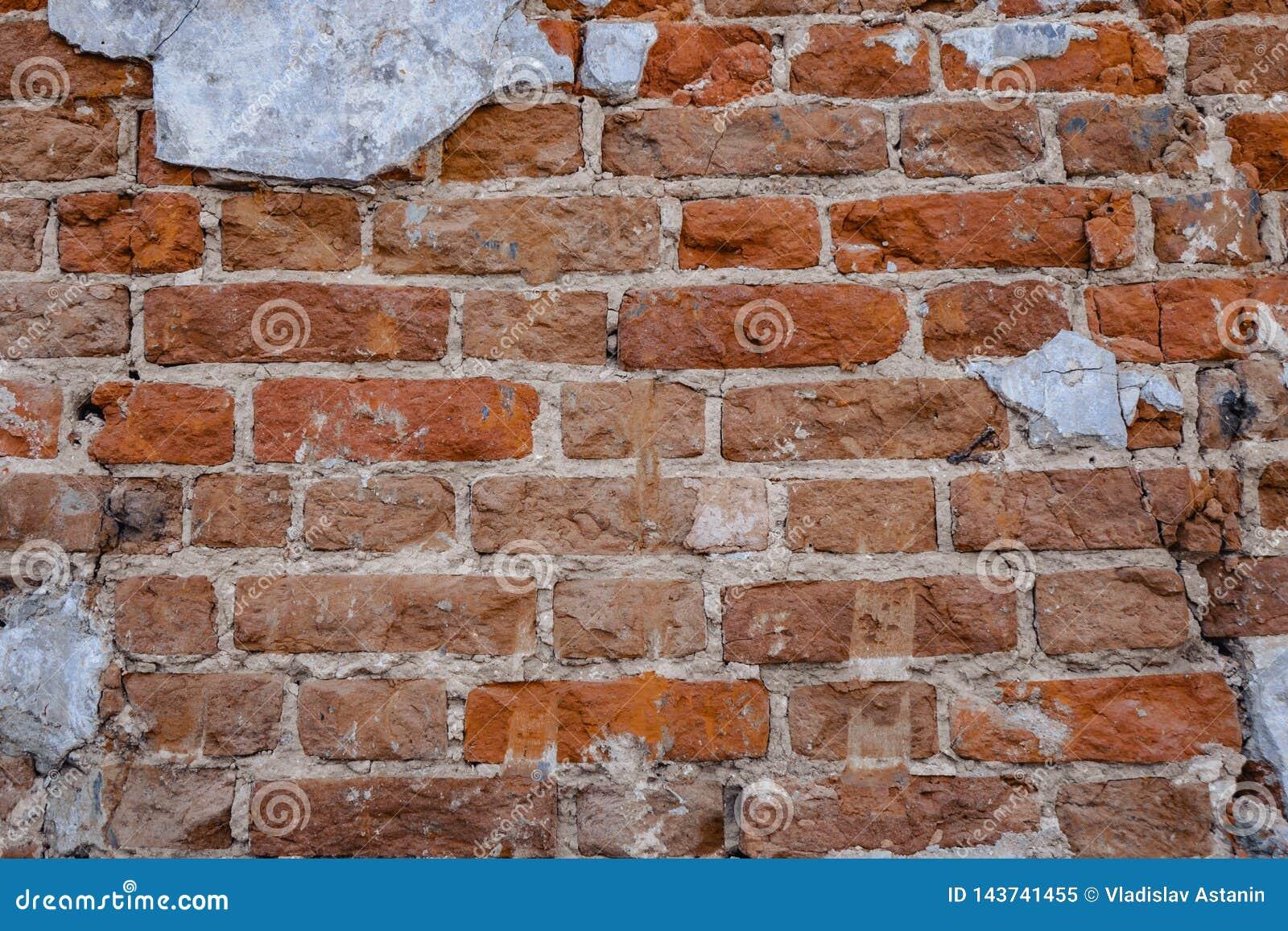 Oude rode van de bakstenen muurtextuur dark als achtergrond