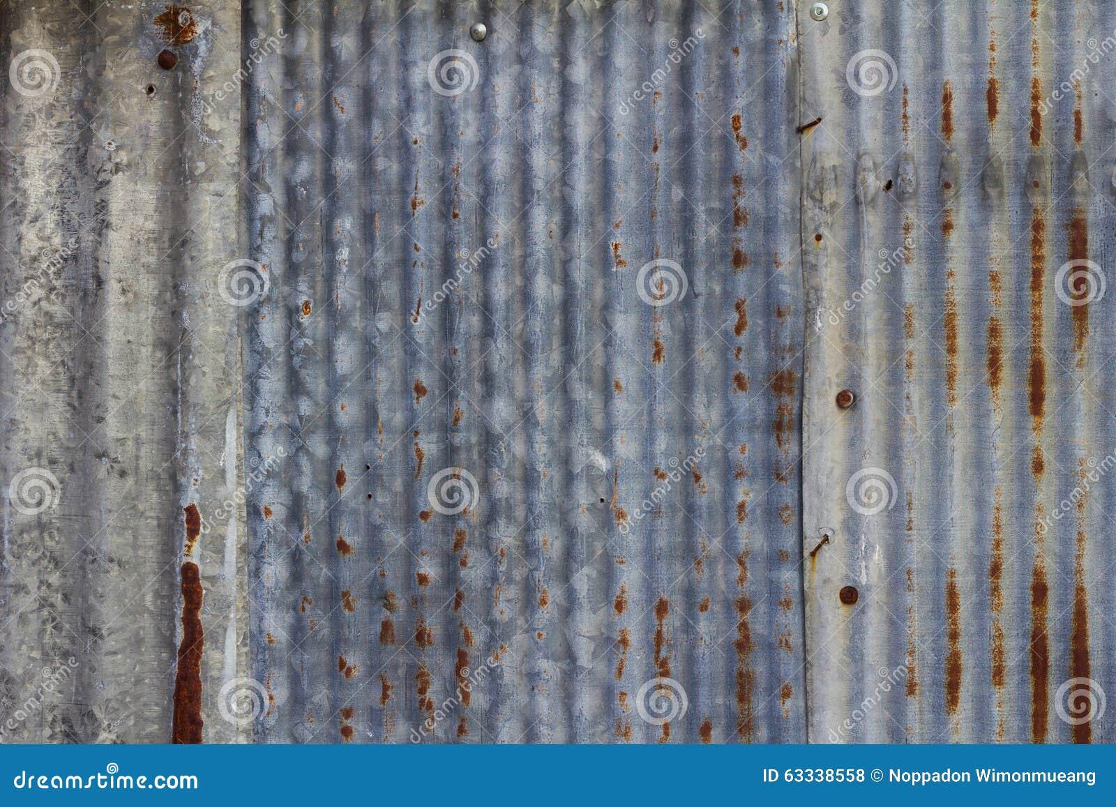 Oude roestige gegalvaniseerde achtergrond stock foto afbeelding 63338558 - Geschilderd zink ...